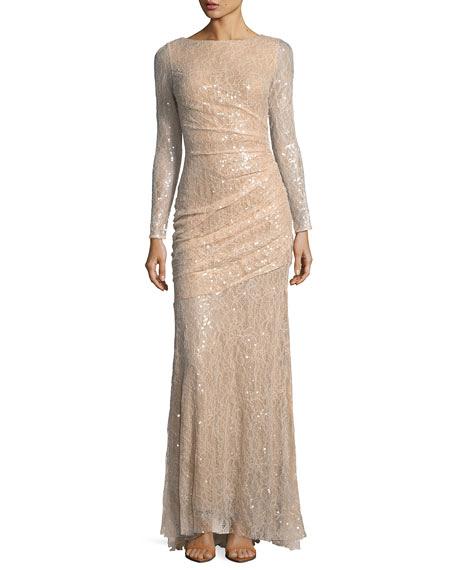 beige long sleeve dress