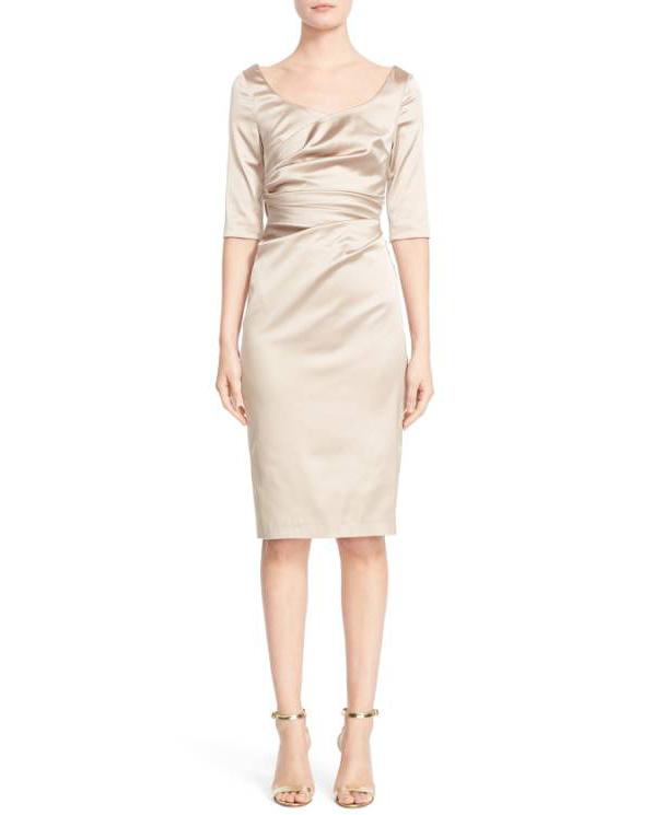 scoop neck long sleeve dress