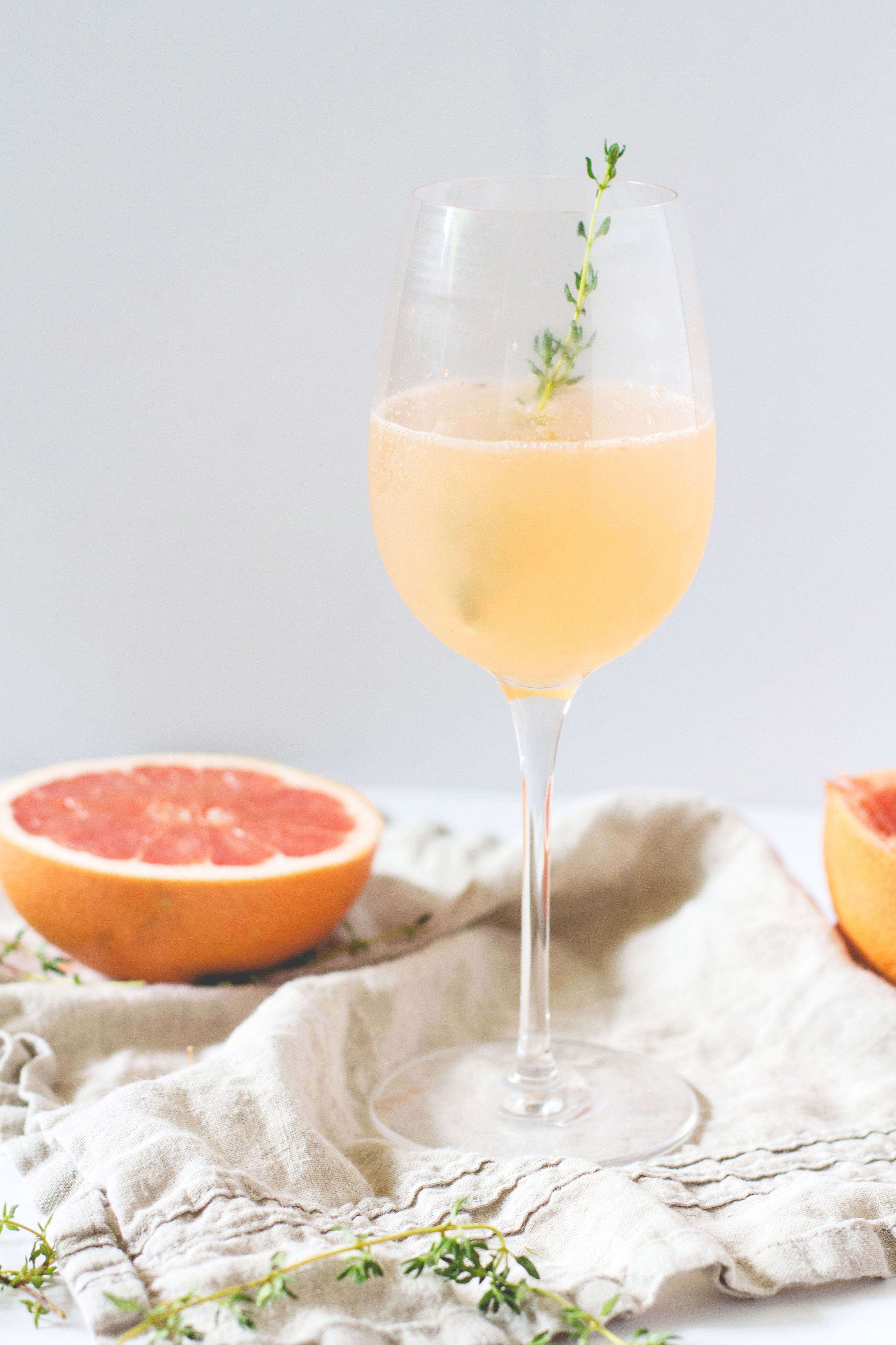 Prosecco and Grapefruit Cocktail