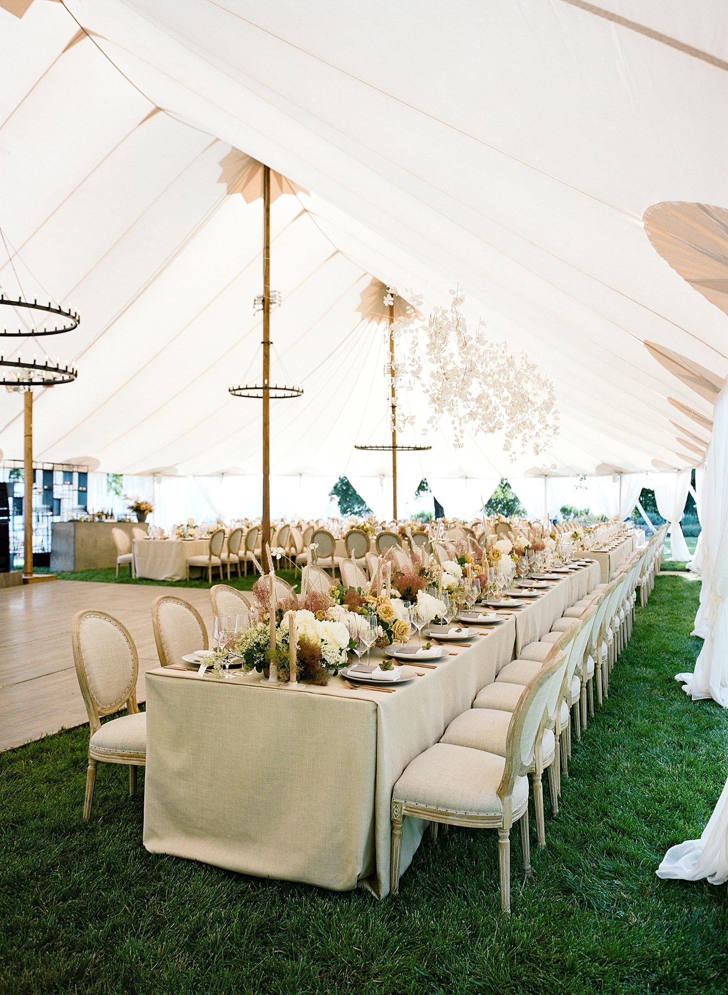 rae rob wedding reception tent