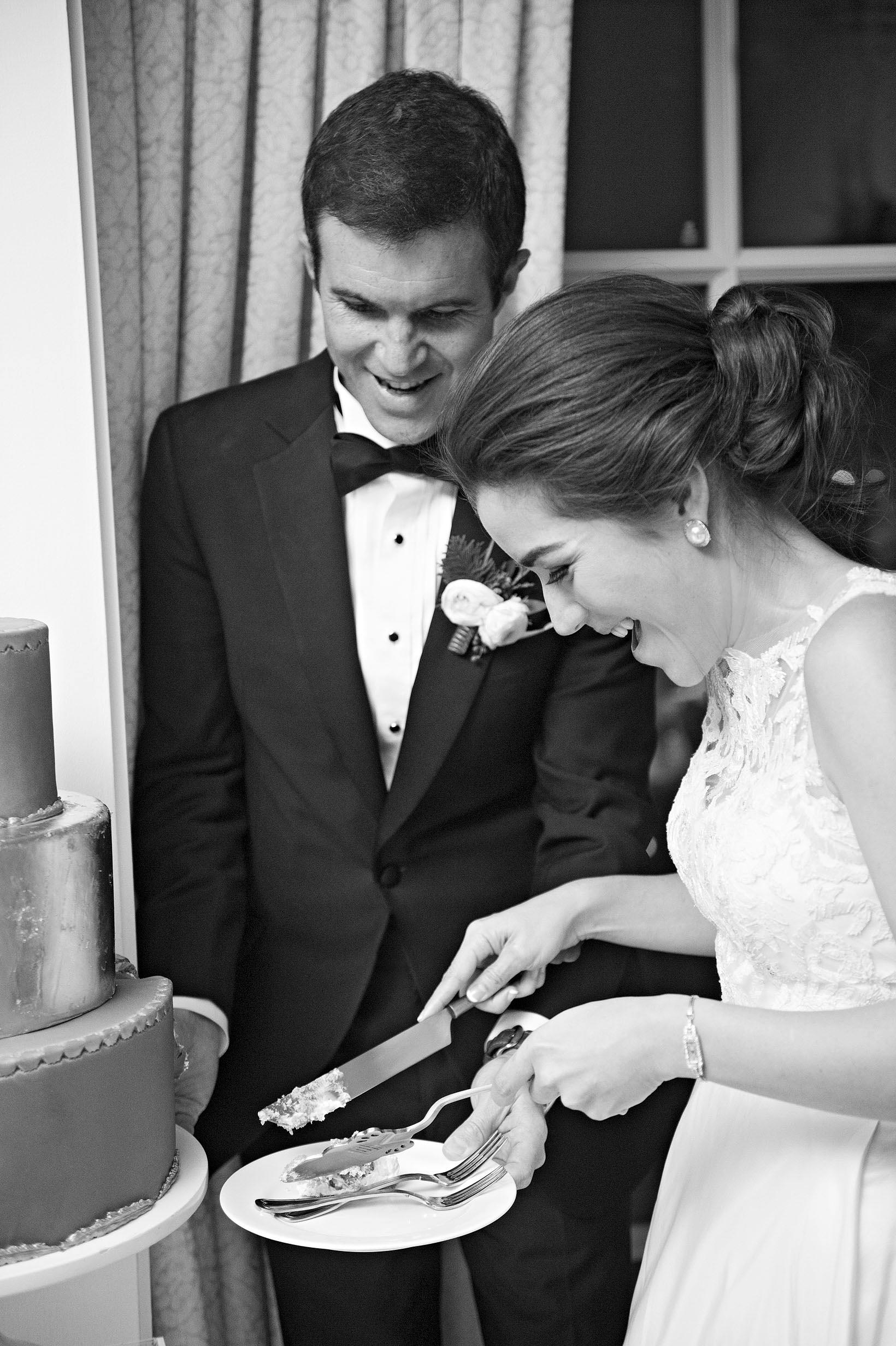 celina rob wedding virginia cake cutting