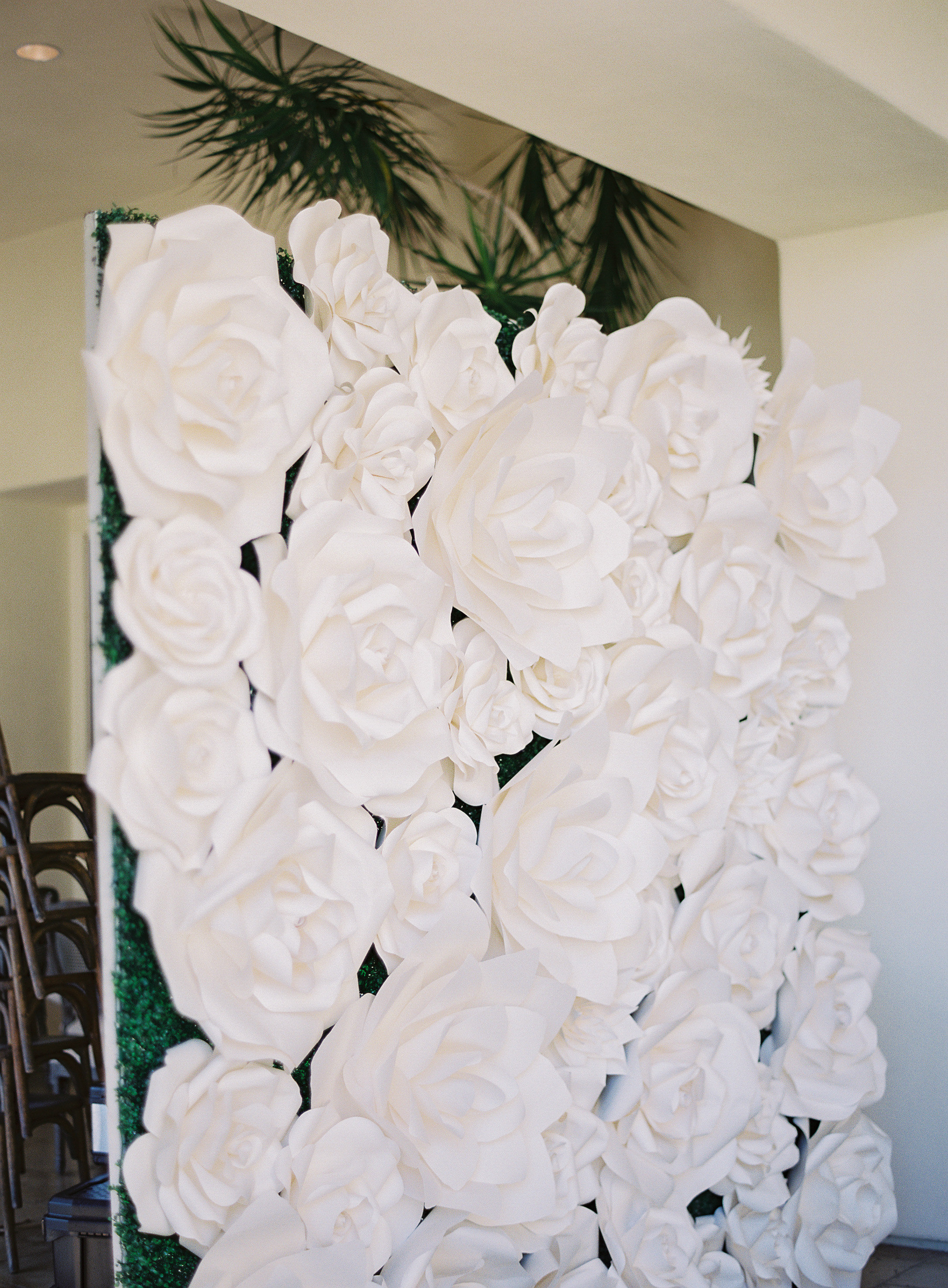 faux flower wall