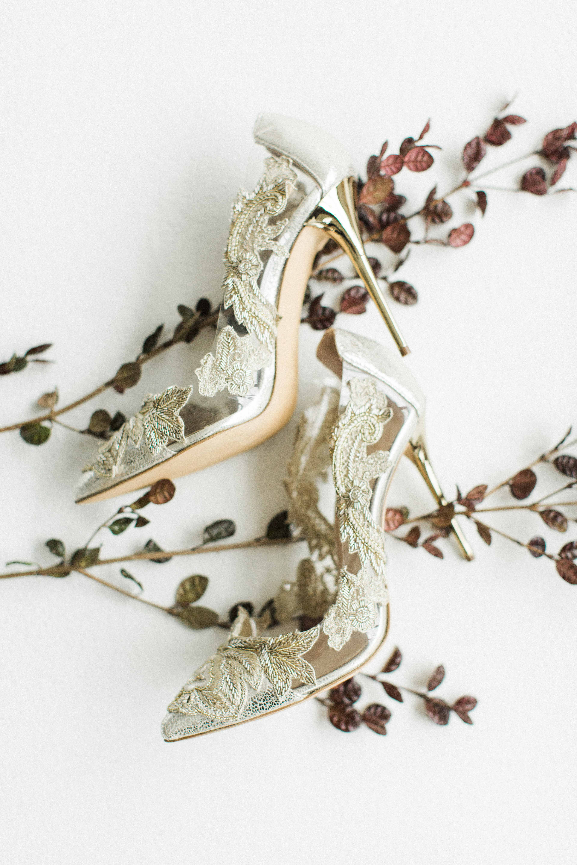 floral applique heels