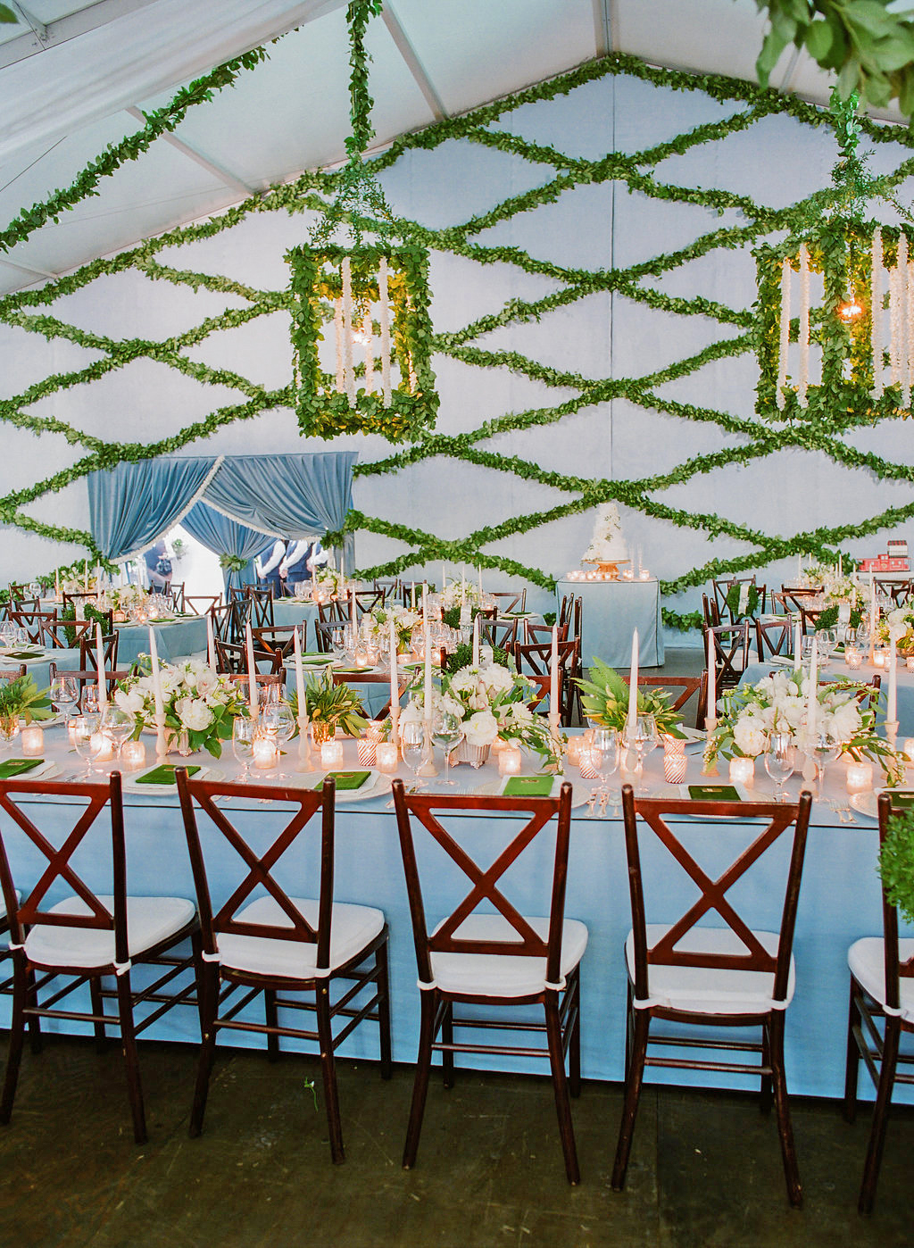 shelby barrett wedding tent centerpieces
