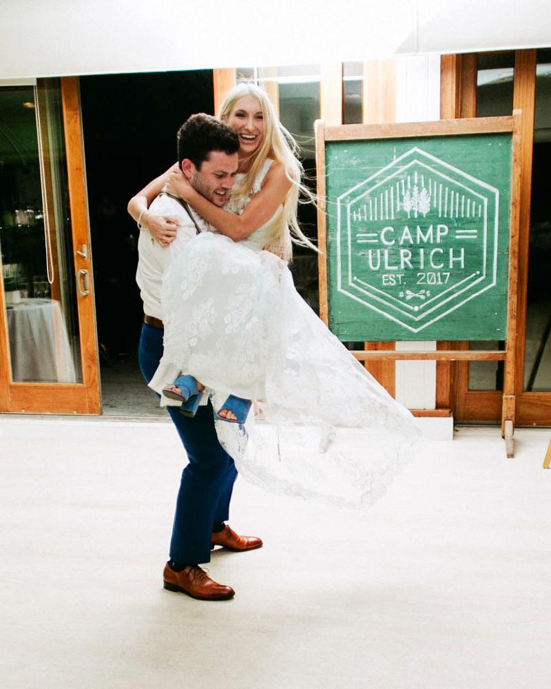 wedding couple twirling