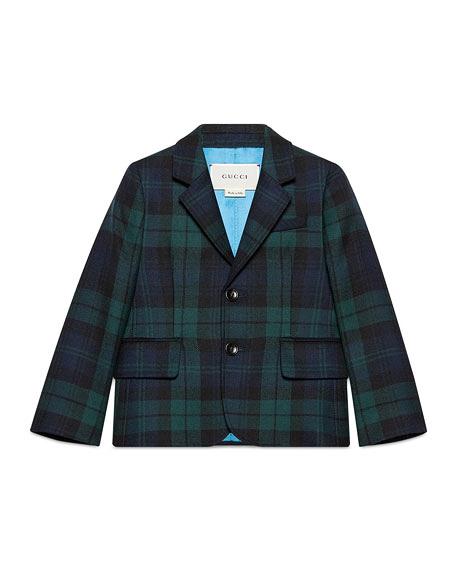 plaid ring bearer coat