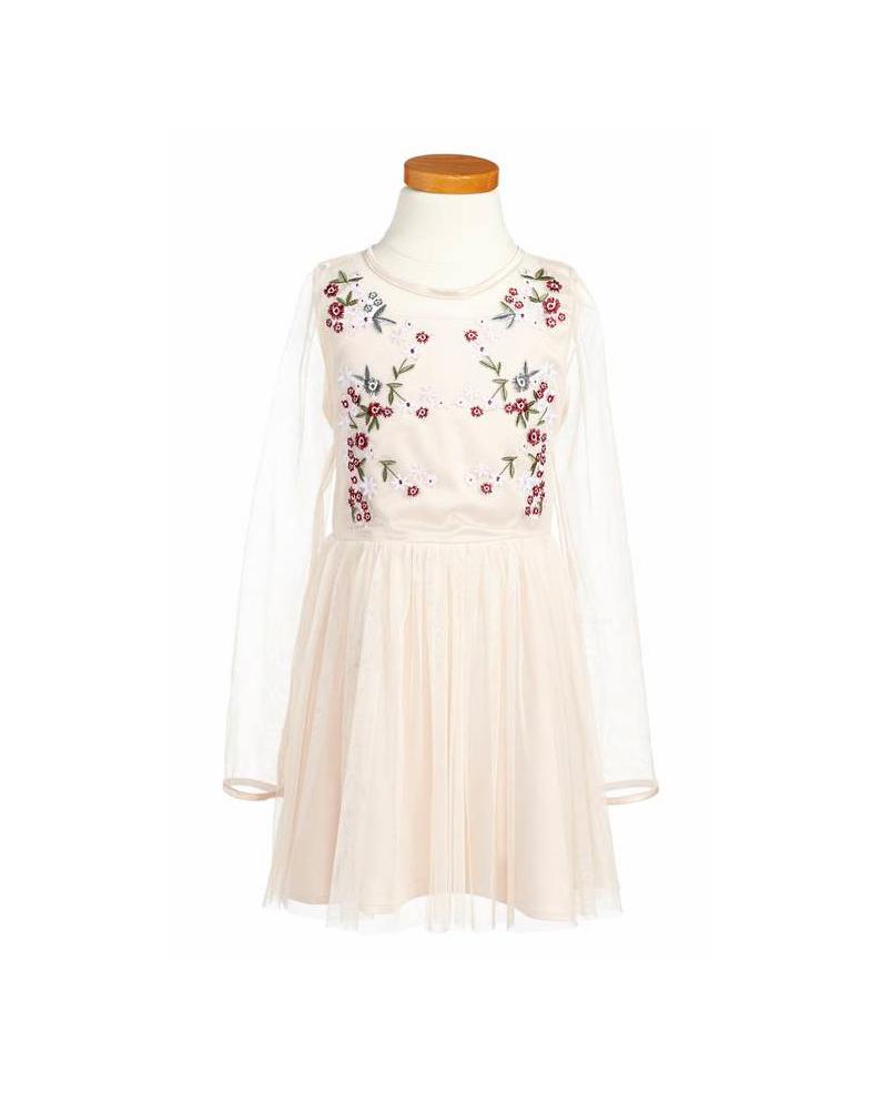long sleeve flower girl dresses bardot junior