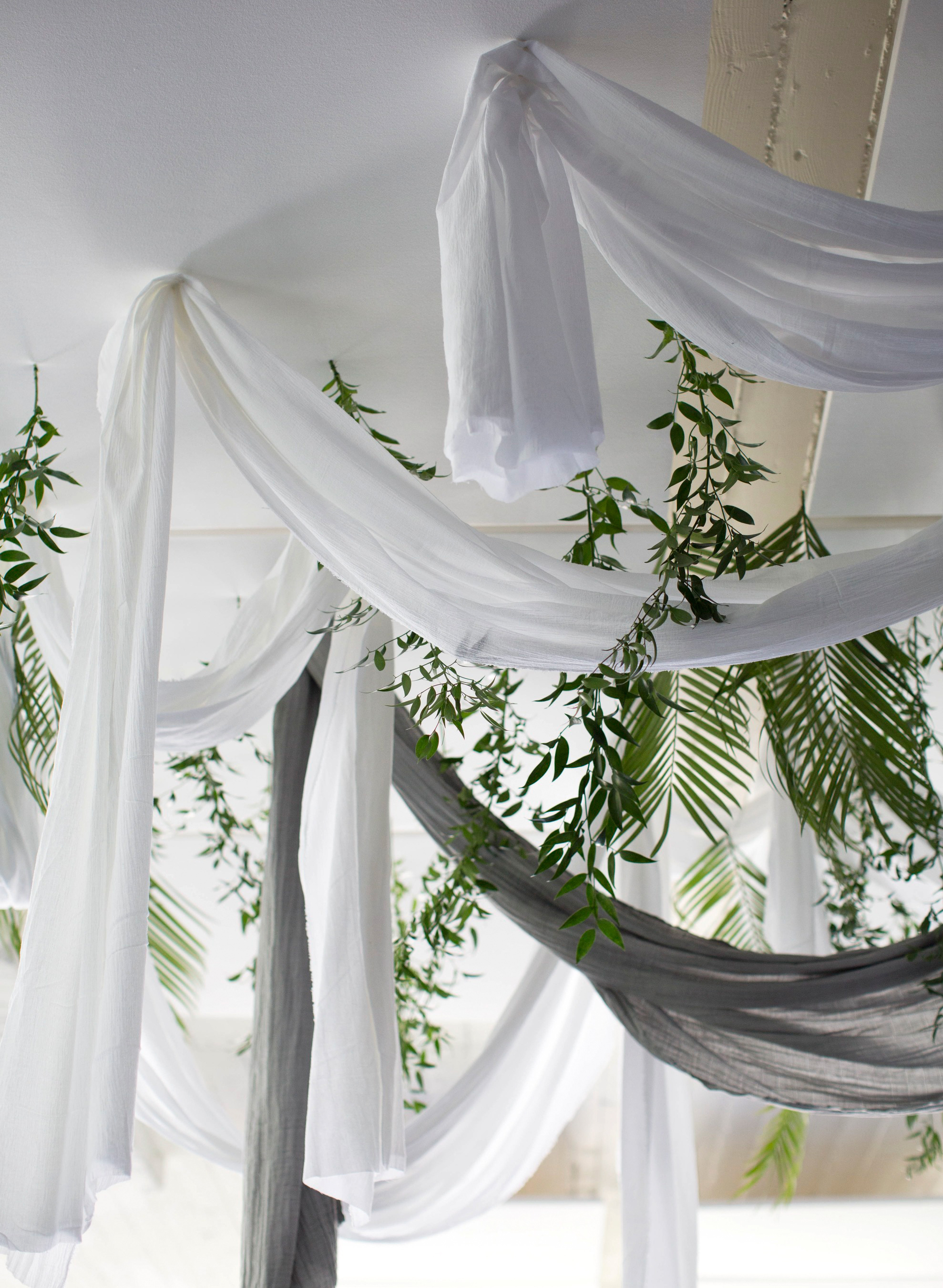 wedding overhead draping