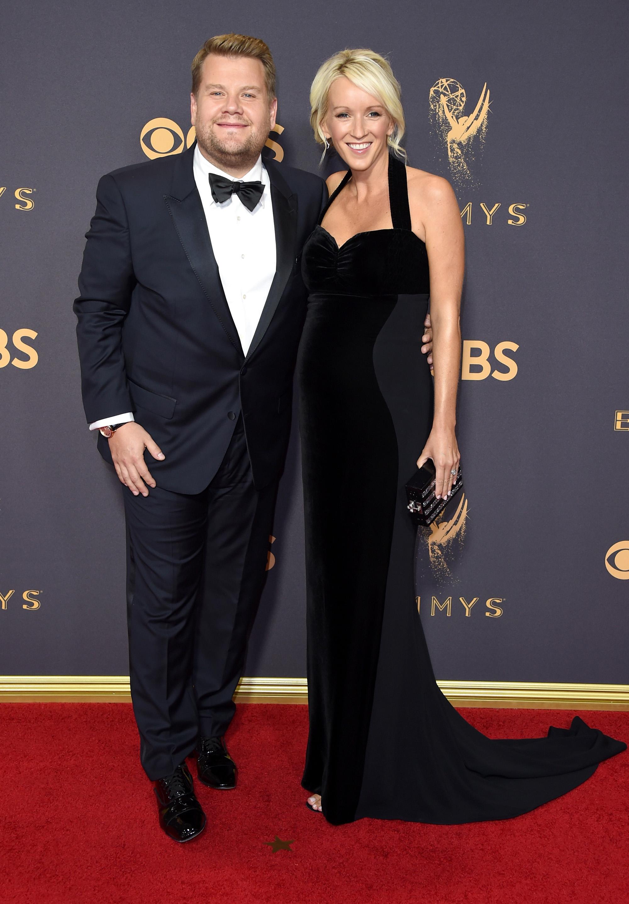 James Corden and Julia Carey Emmys 2017
