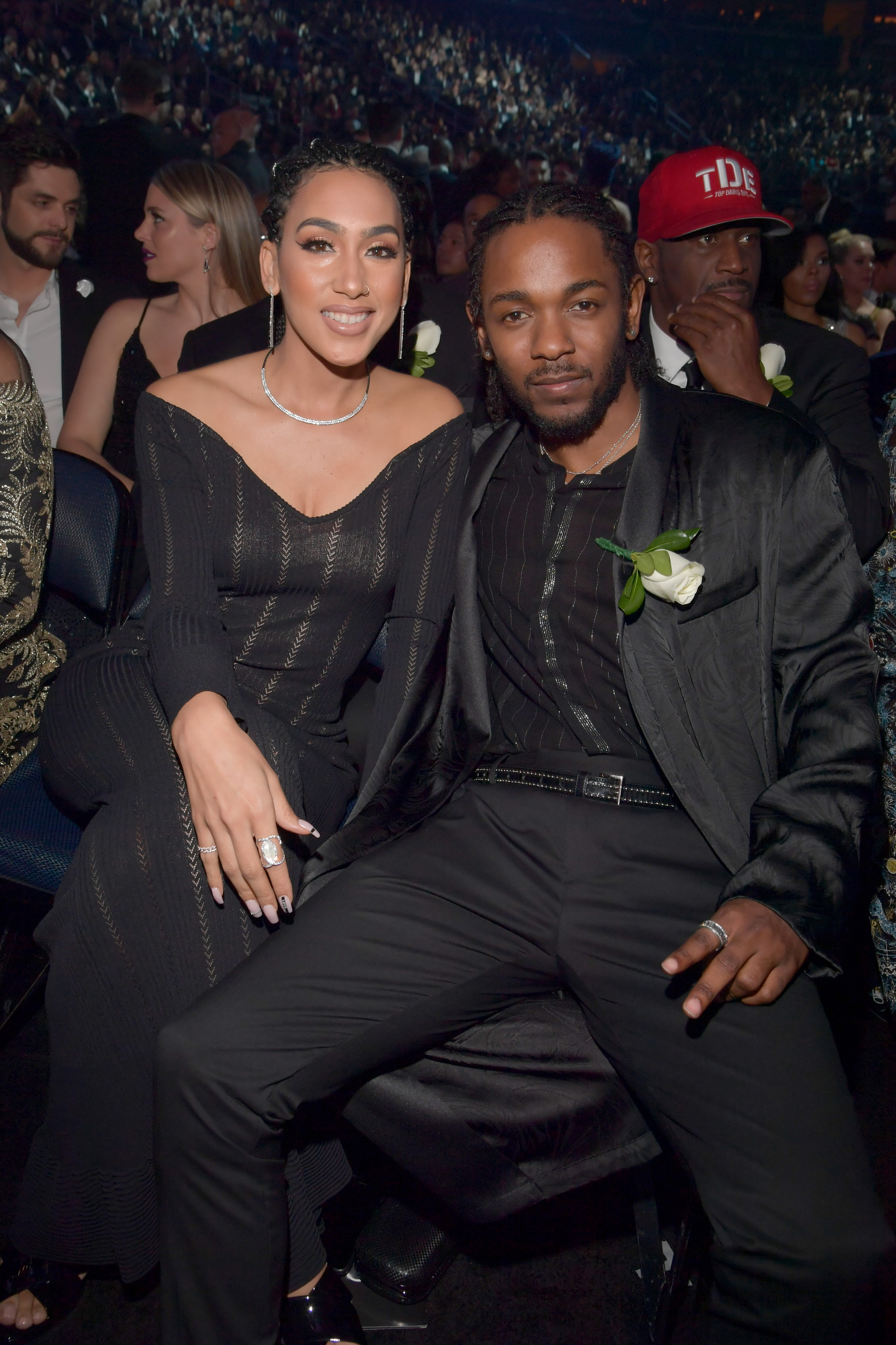 Kendrick Lamar and Whitney Alford 2018 Grammy Awards