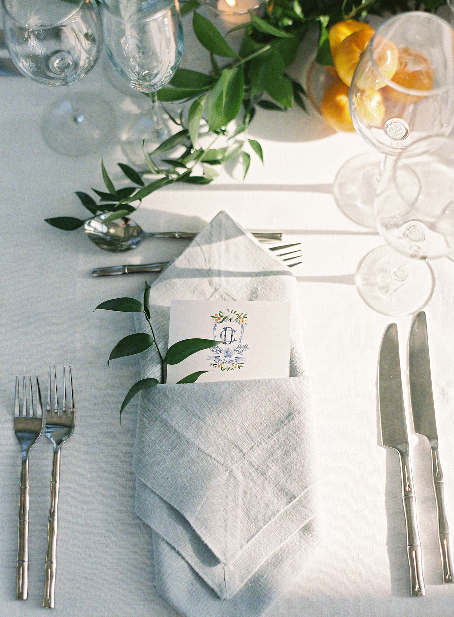 cat denis wedding place setting