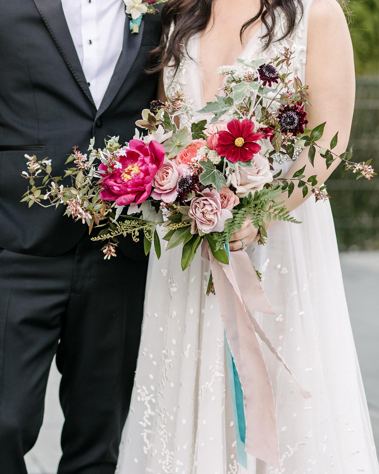 stephanie tim wedding bridal bouquet