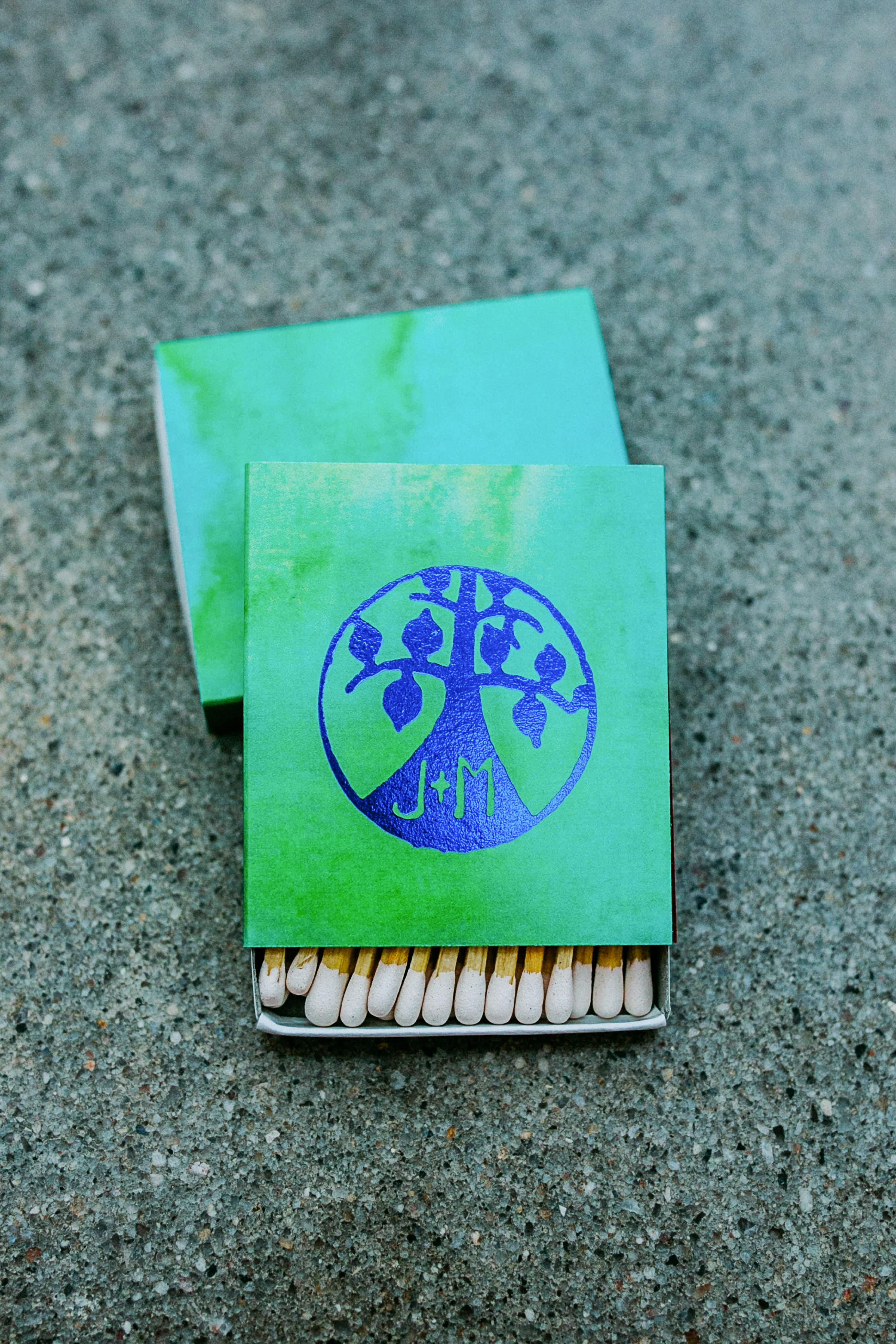 wedding matches box