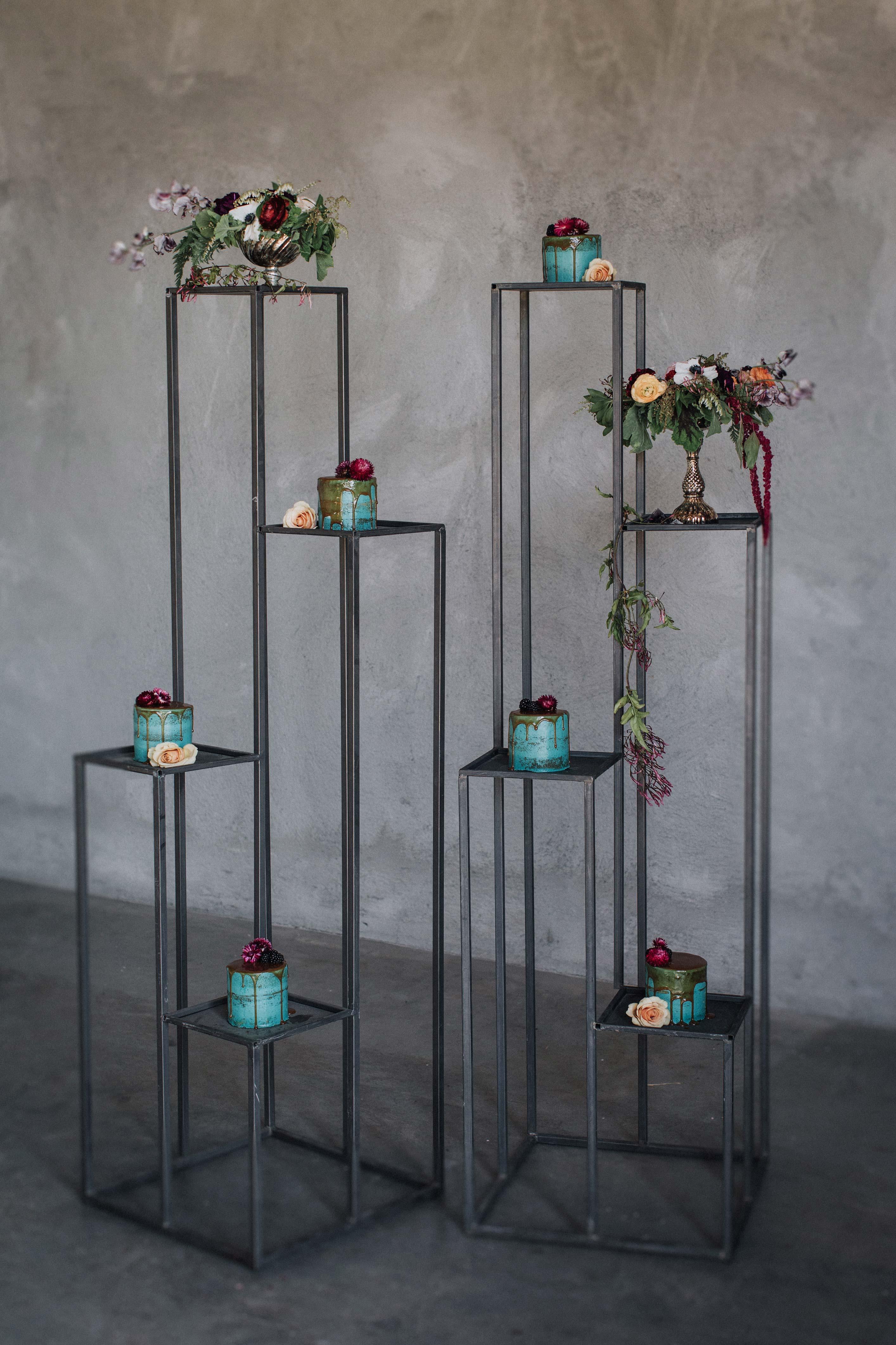 individual cakes display