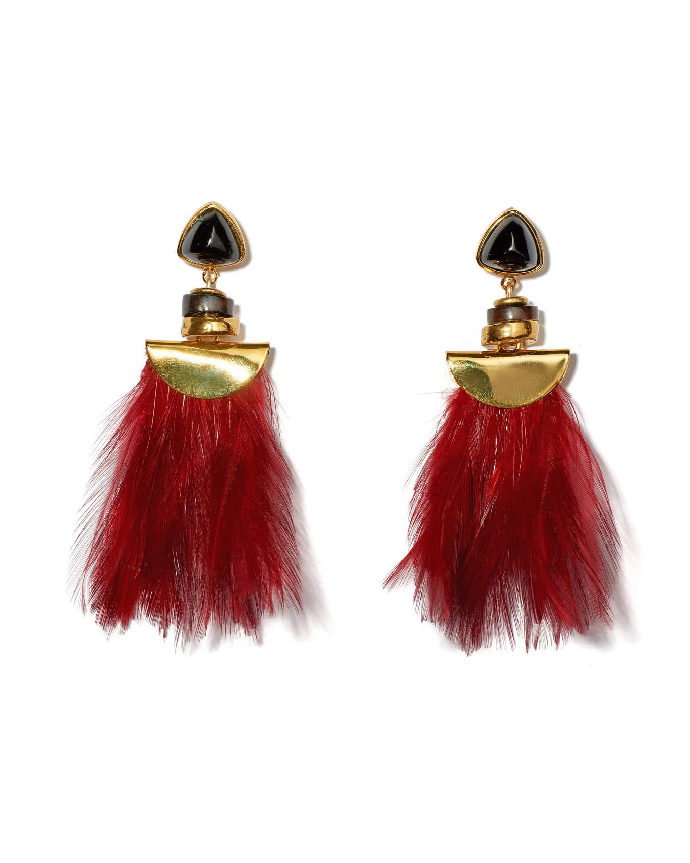 red tassel earings
