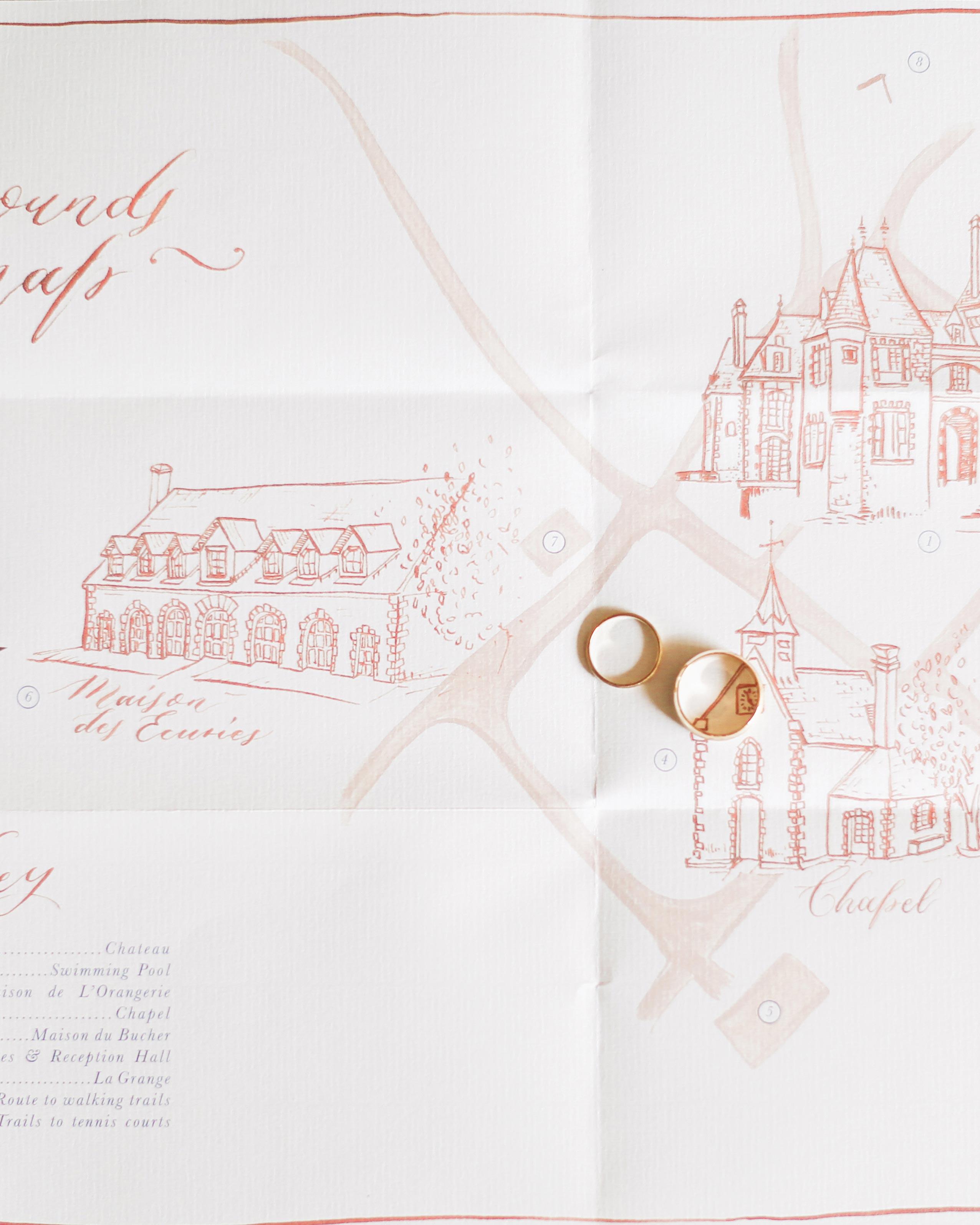 wedding map rings