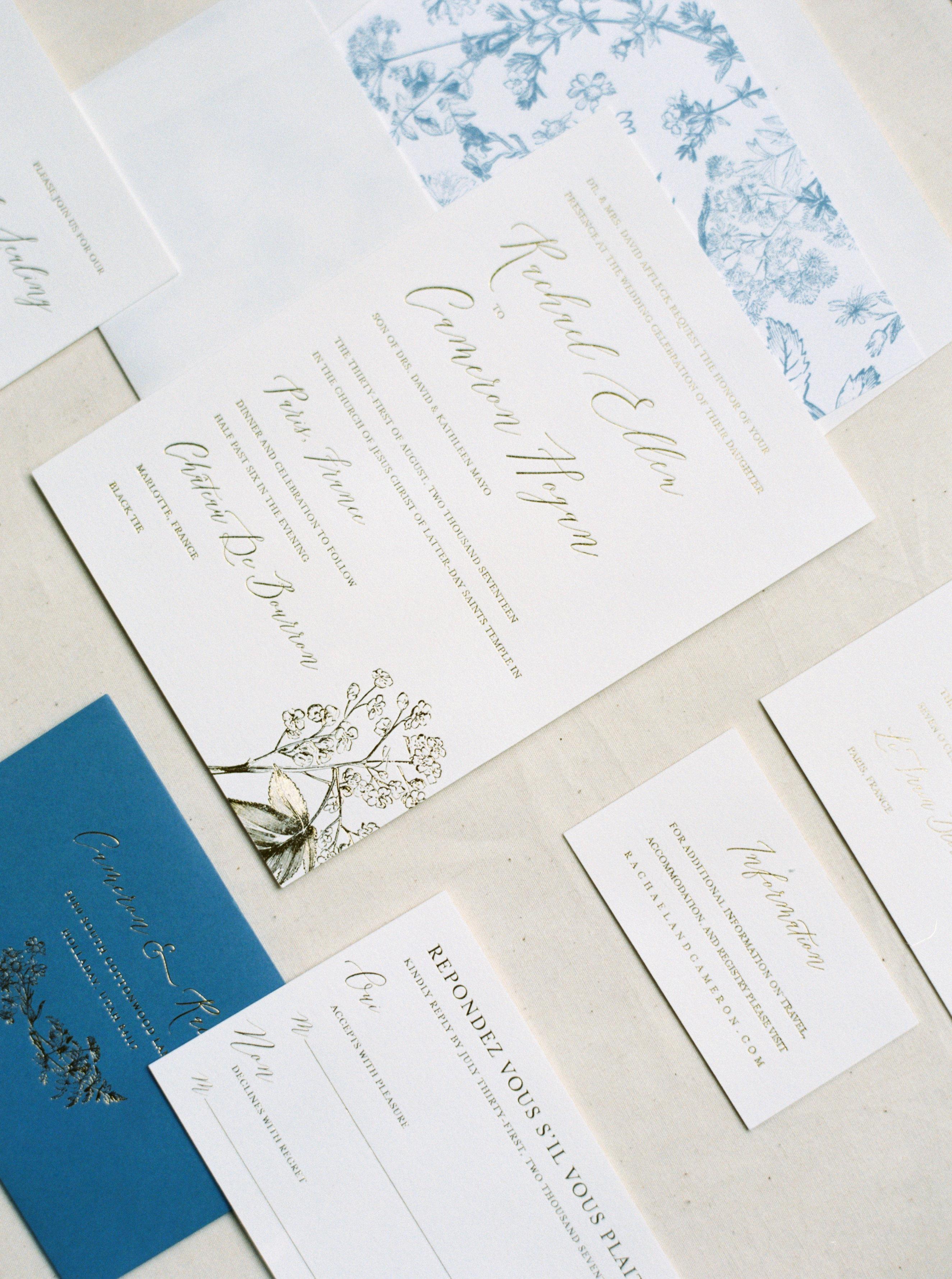 rachael cameron wedding invitation