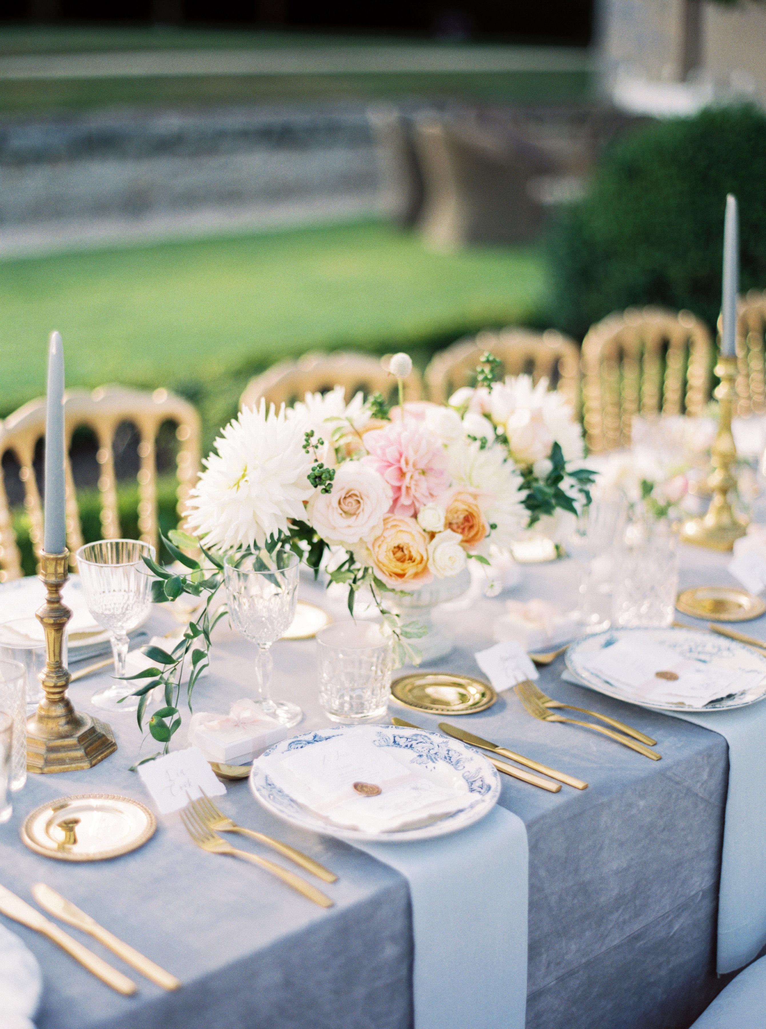 rachael cameron wedding table centerpiece