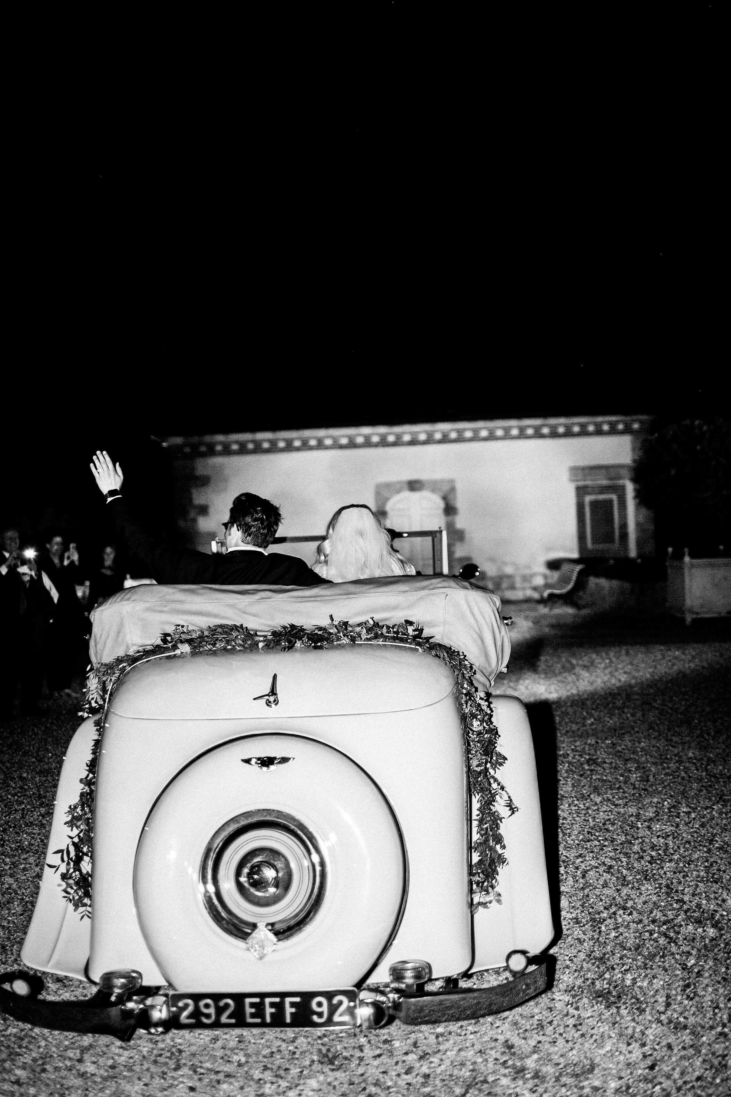 rachael cameron wedding getaway car