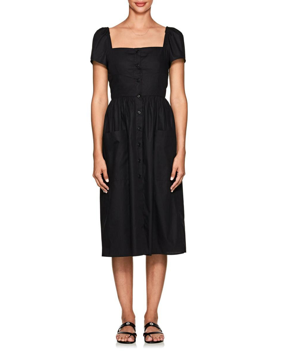 Barneys New York Cotton Poplin Midi Dress