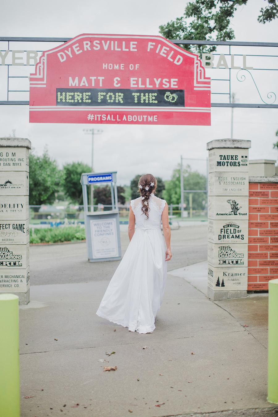 baseball sign wedding