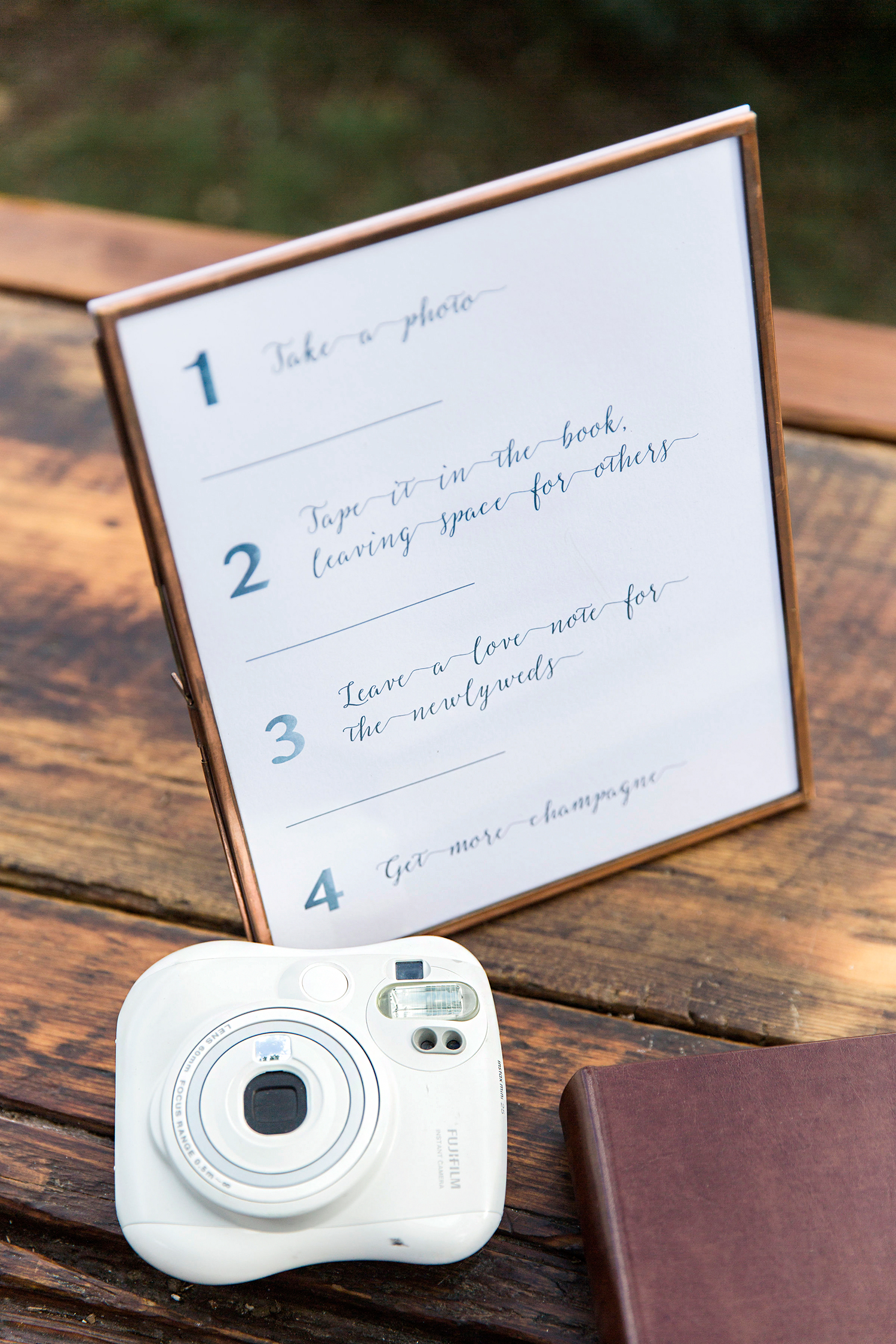 allison aimee wedding camera and book