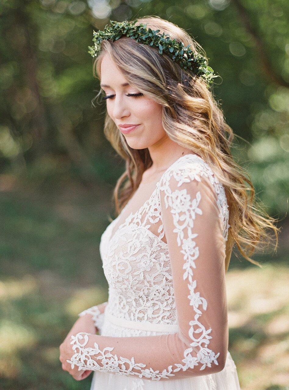The New Flower Crown: Greenery Crowns   Martha Stewart Weddings