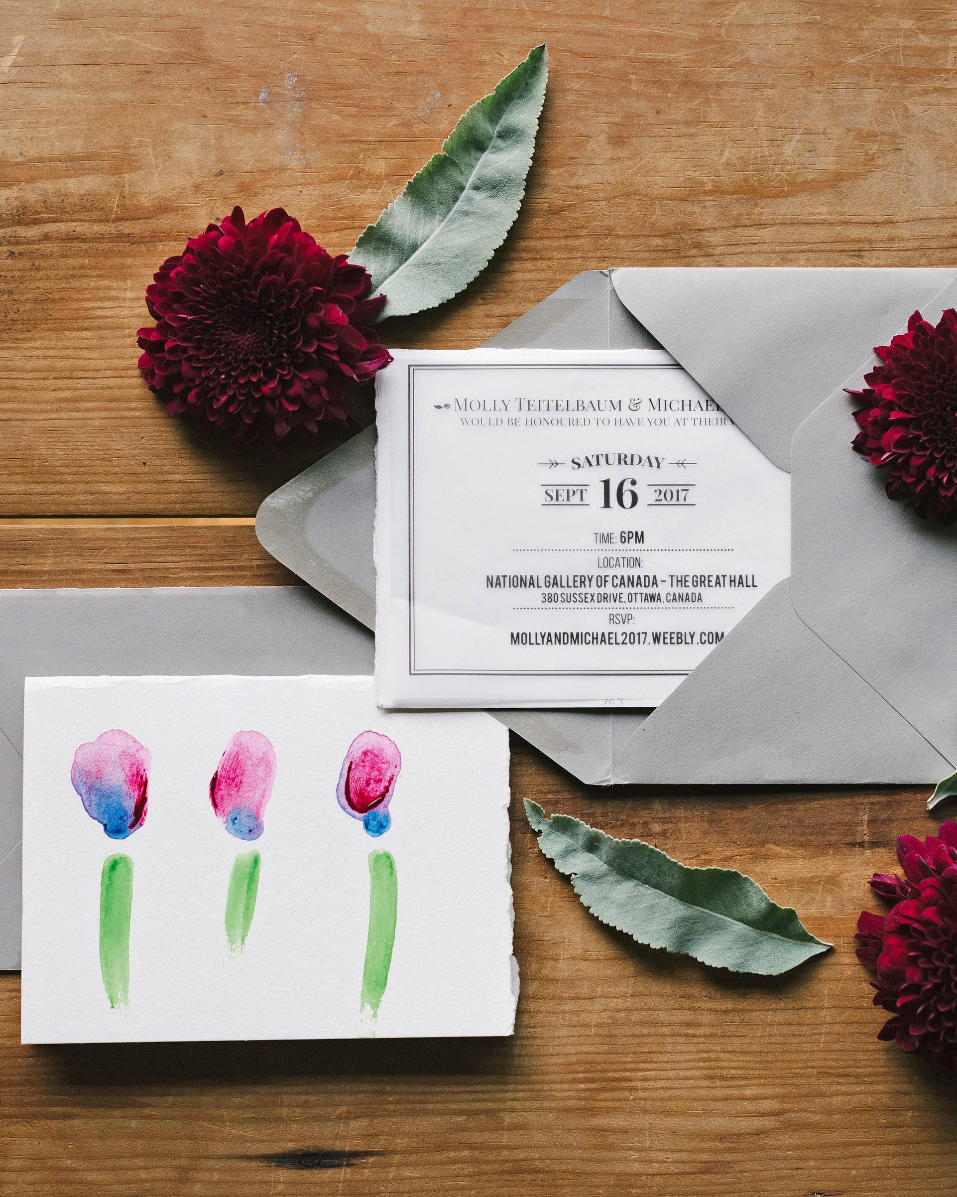 molly michael wedding invitation