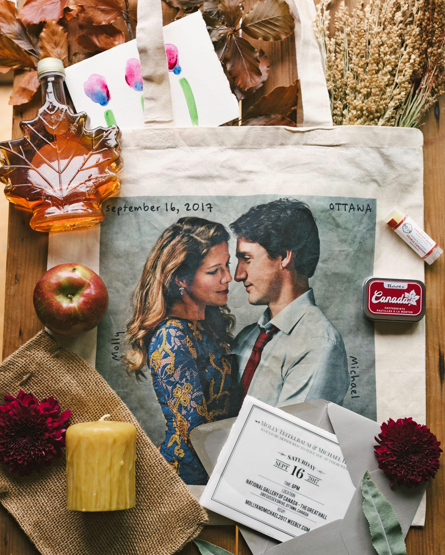 molly michael wedding welcome bag