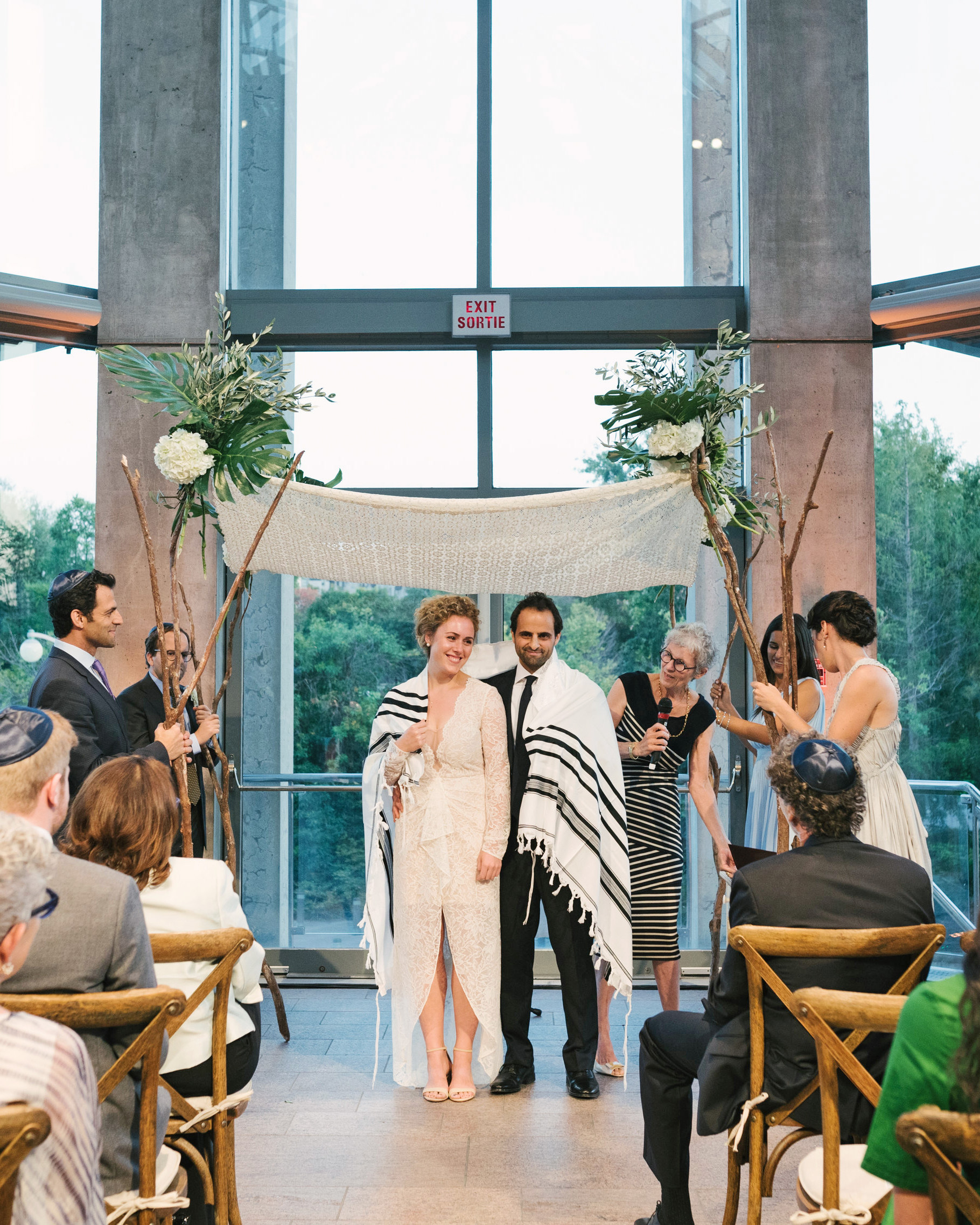 molly michael wedding ceremony blanket