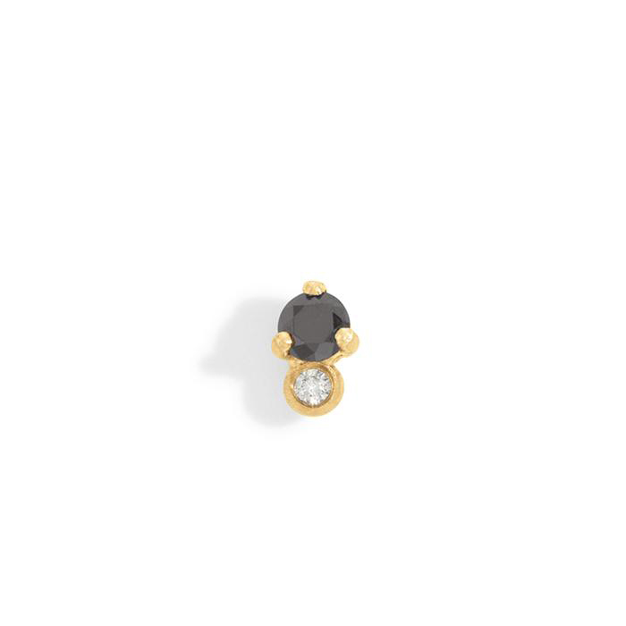 black stone earring