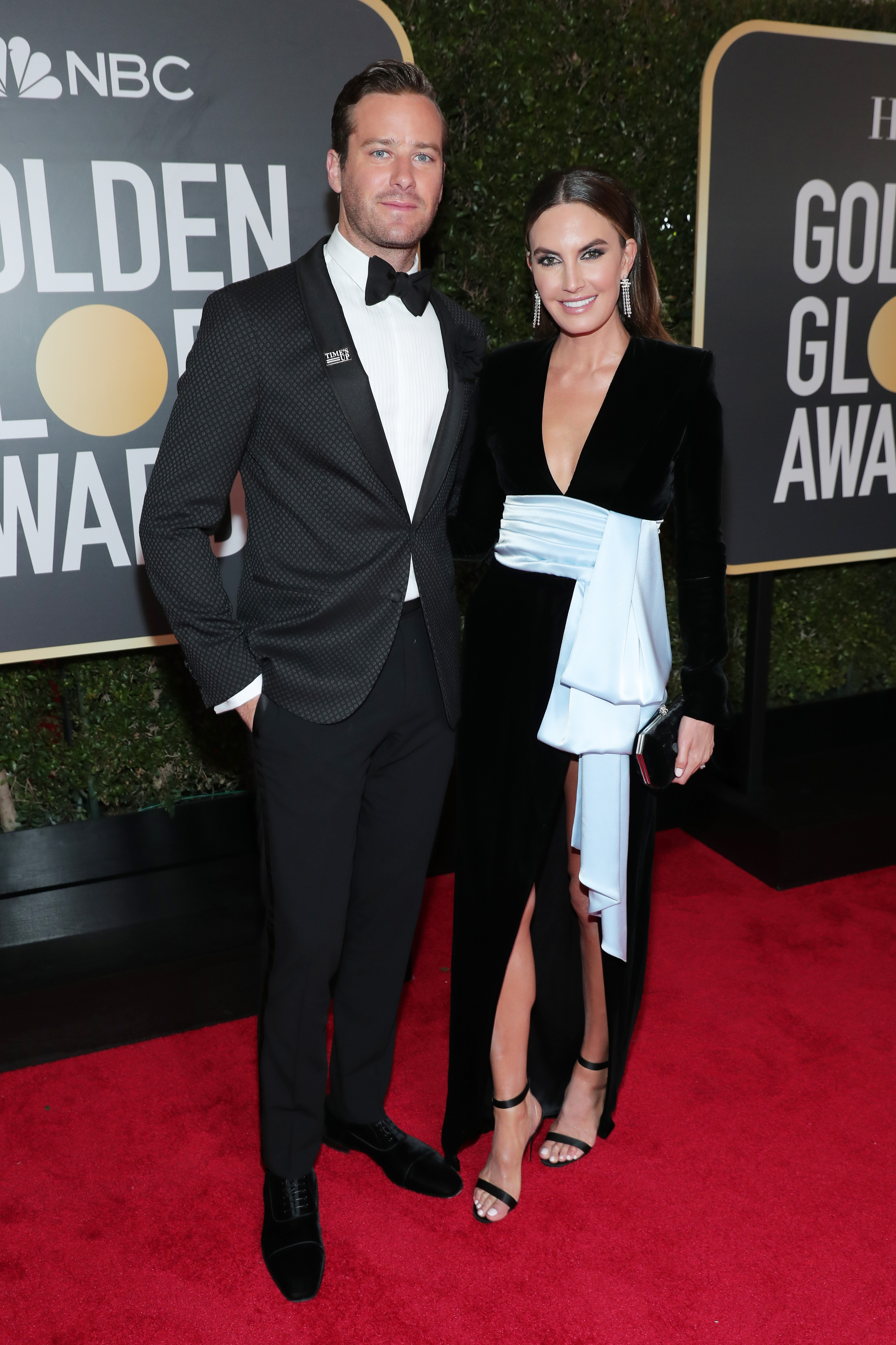 Armie Hammer and Elizabeth Chambers 2018 Golden Globes