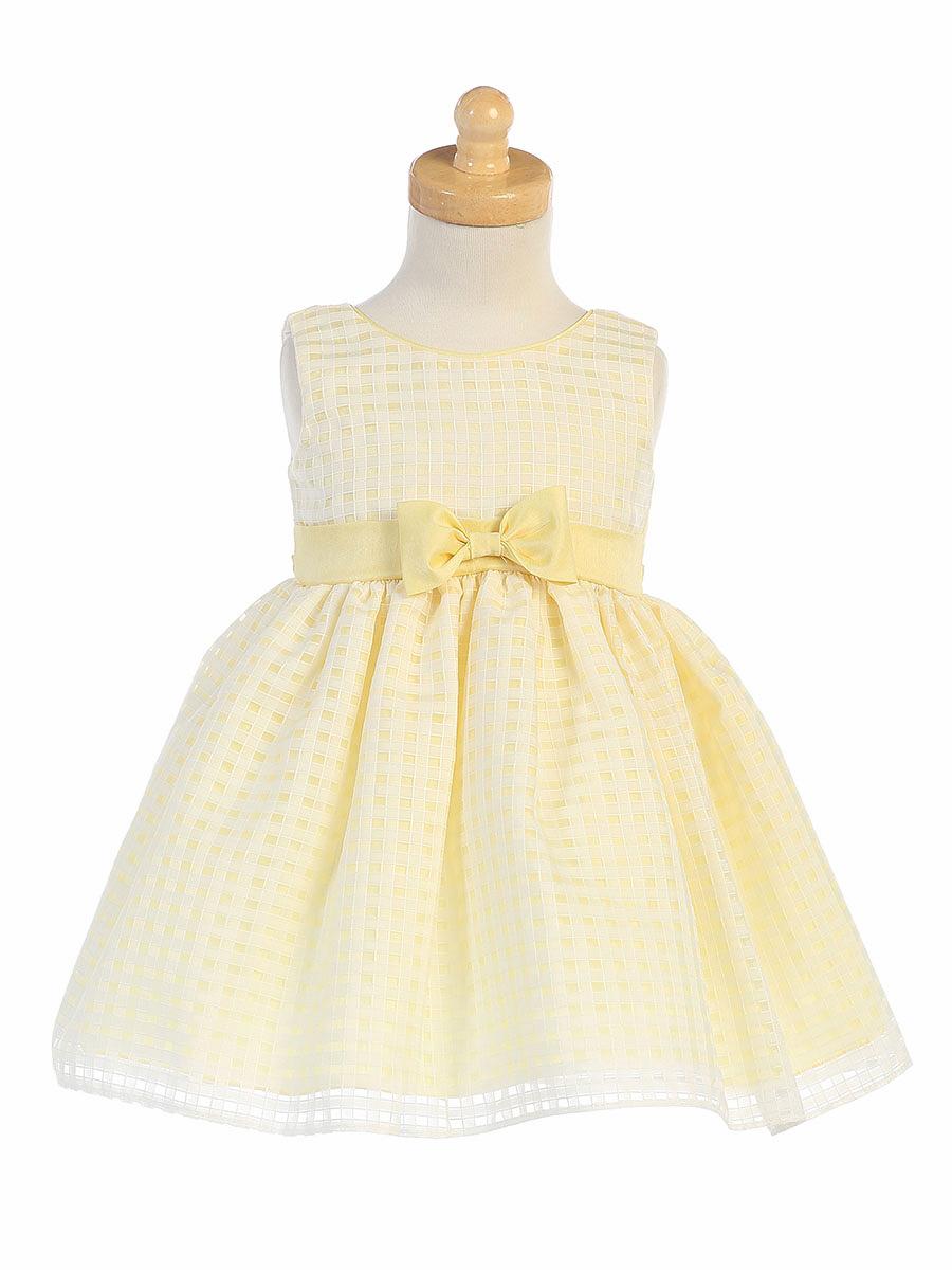 yellow flower girl dress bow