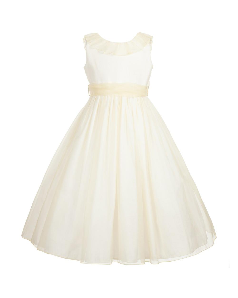 light yellow flower girl dress