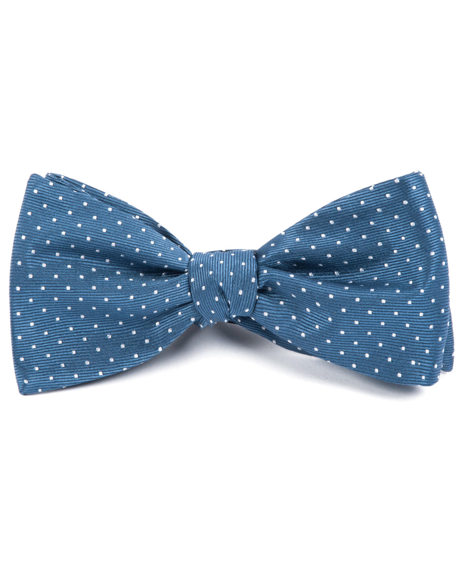 ring bearer blue mini dots bow tie