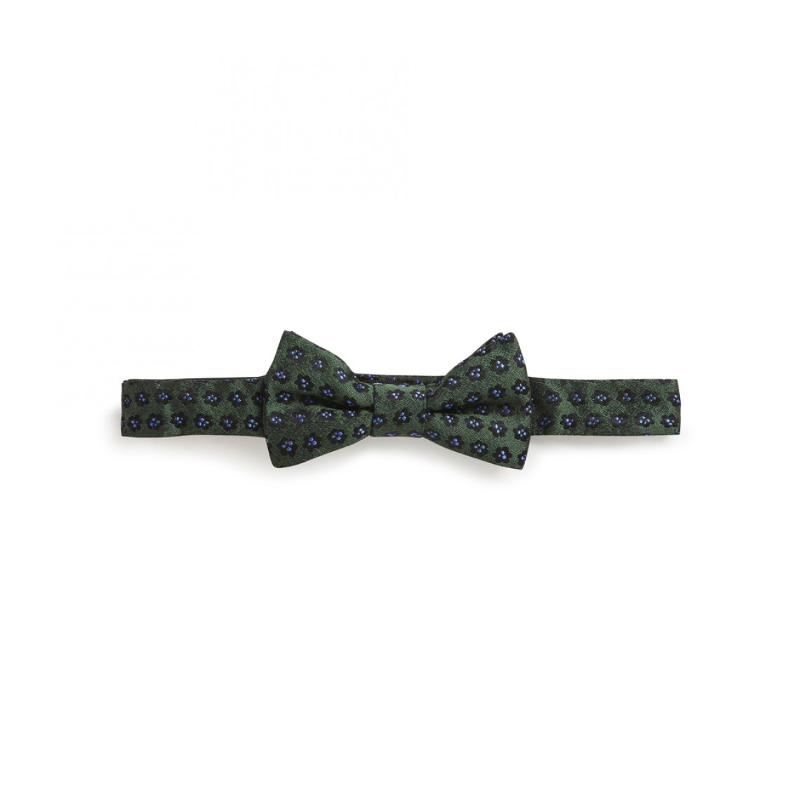 ring bearer dark green floral bow tie