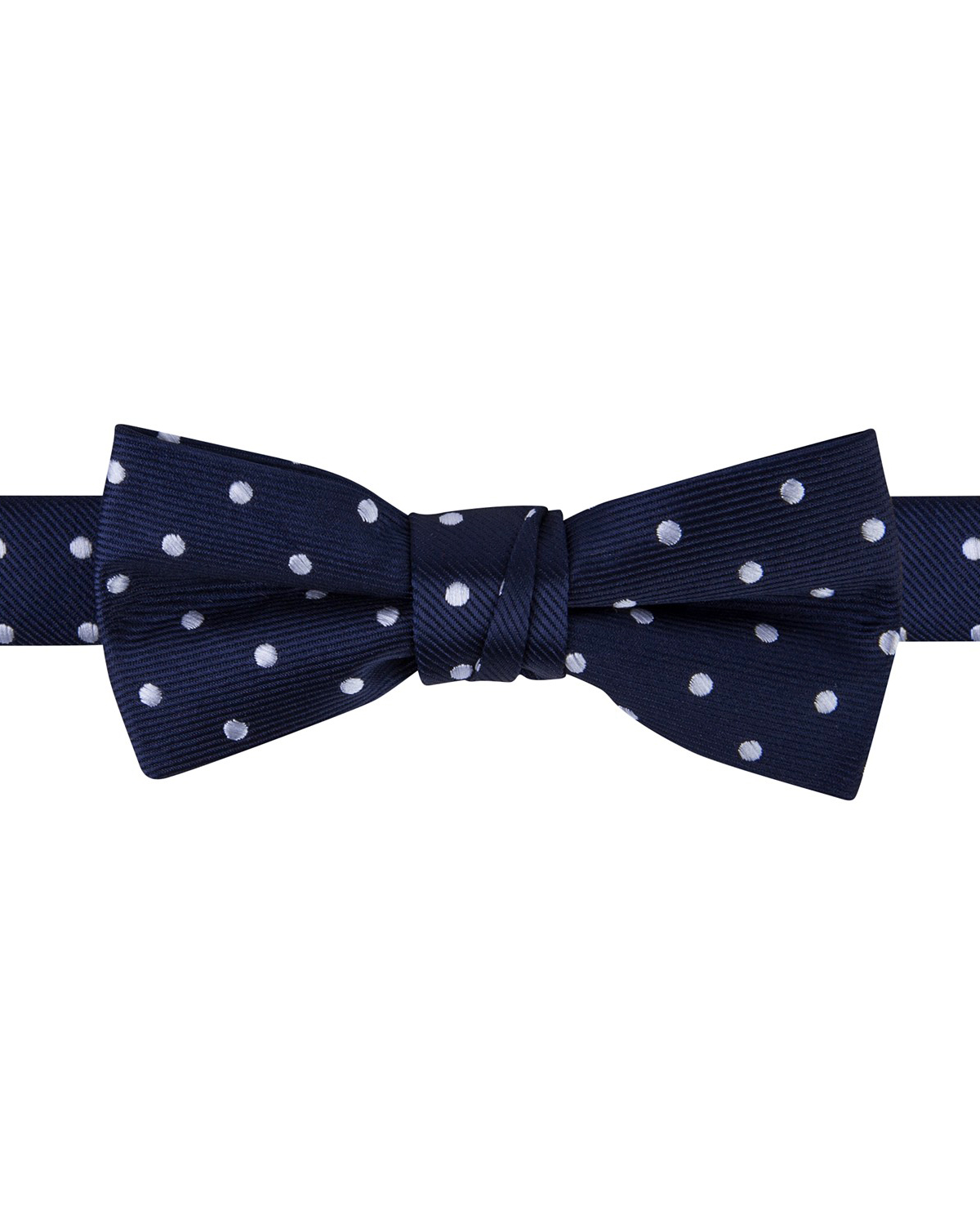 ring bearer dark blue white polk dot bow tie