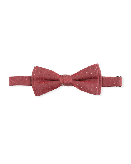 ring bearer red white pin dot bow tie