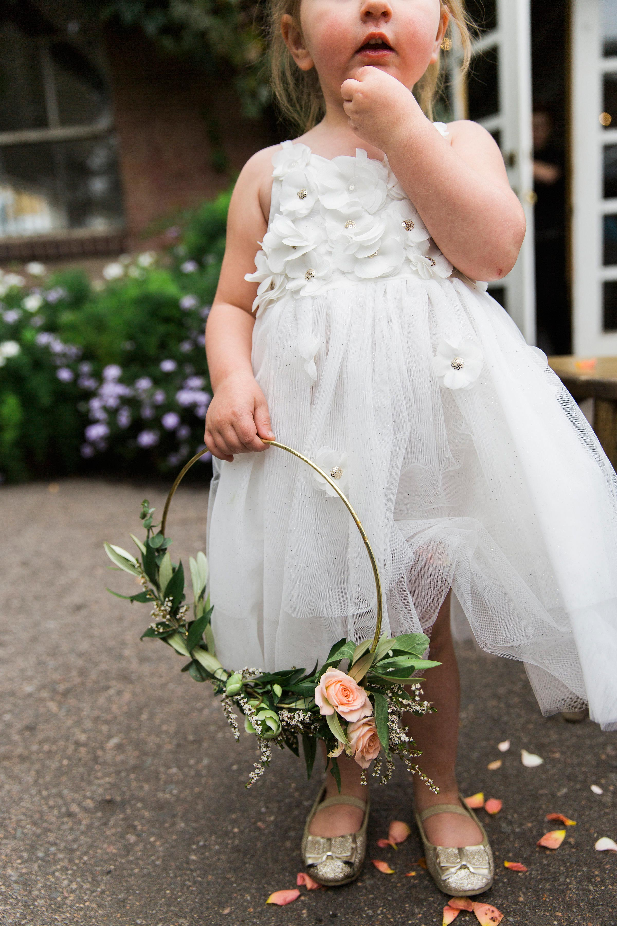 flower girl with hoop