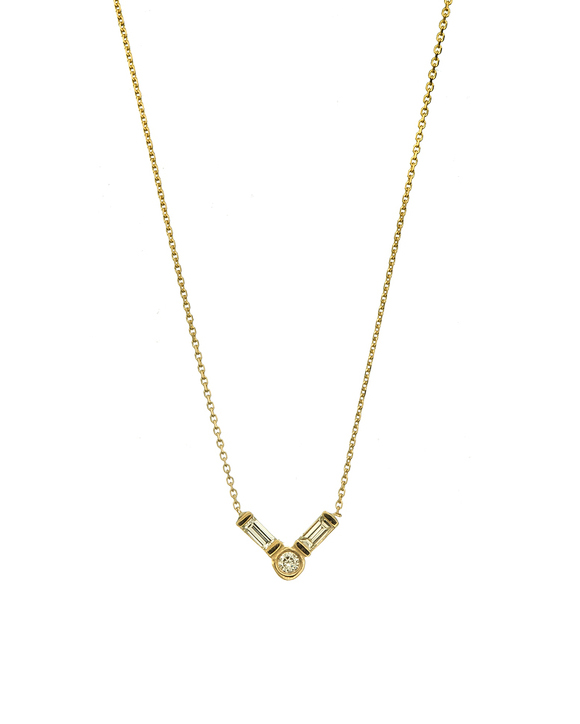 small stone gold necklace