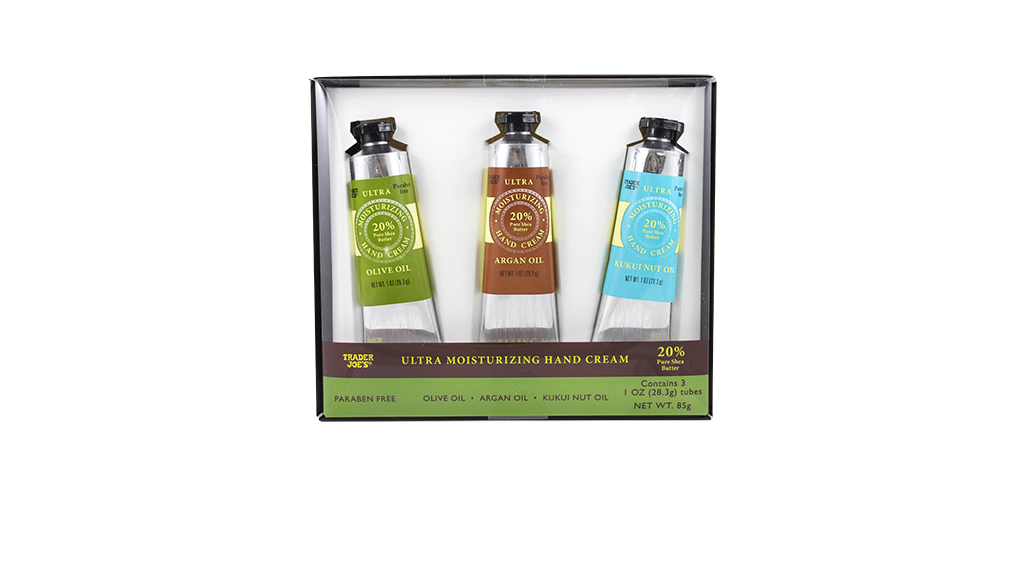 trader joes beauty hand cream trio