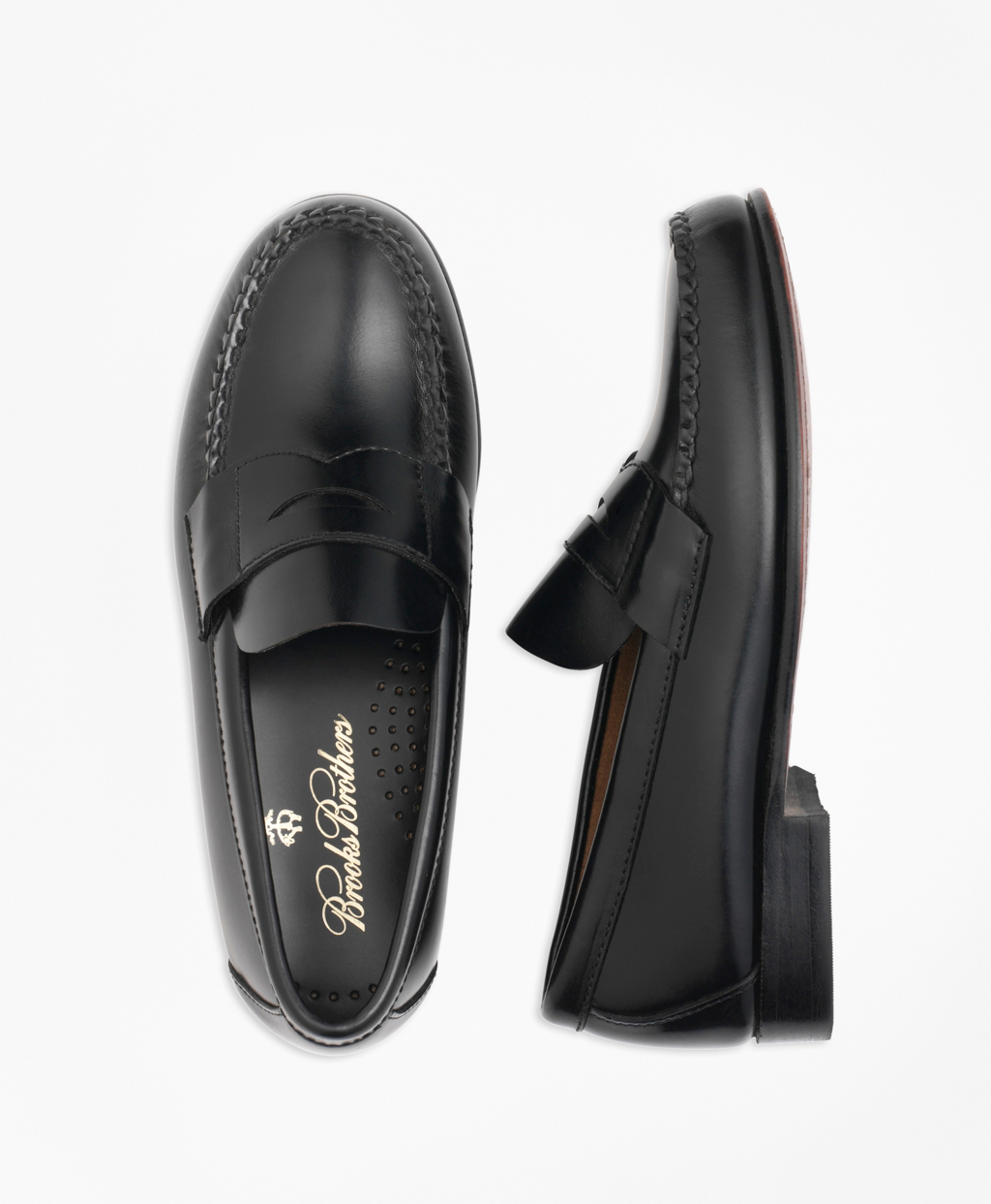 ring bearer shoes black leather penny loafers