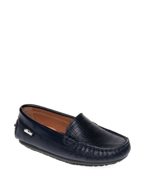 ring bearer shoes black leather textured moccasins