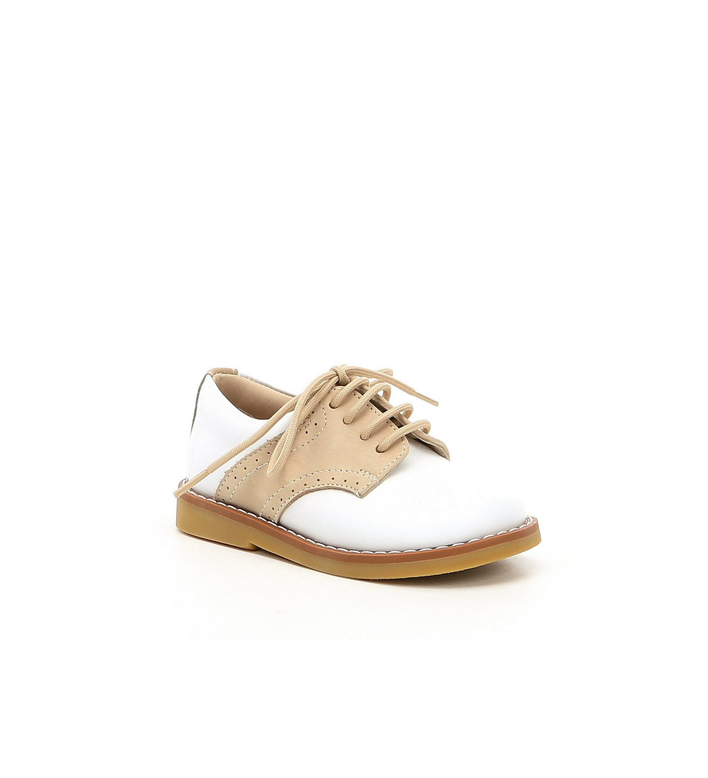 ring bearer shoes tan saddle oxfords