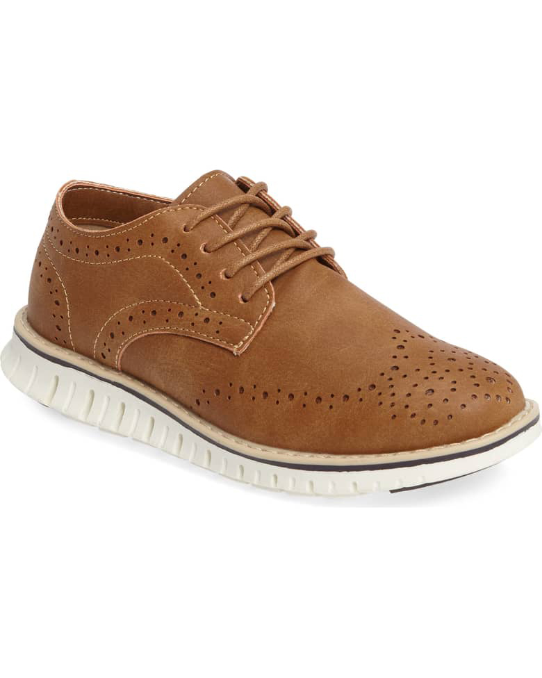 ring bearer shoes brown suede oxford sneakers