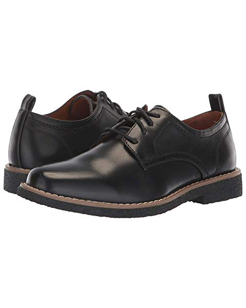 ring bearer shoes black leather deer stags with laces