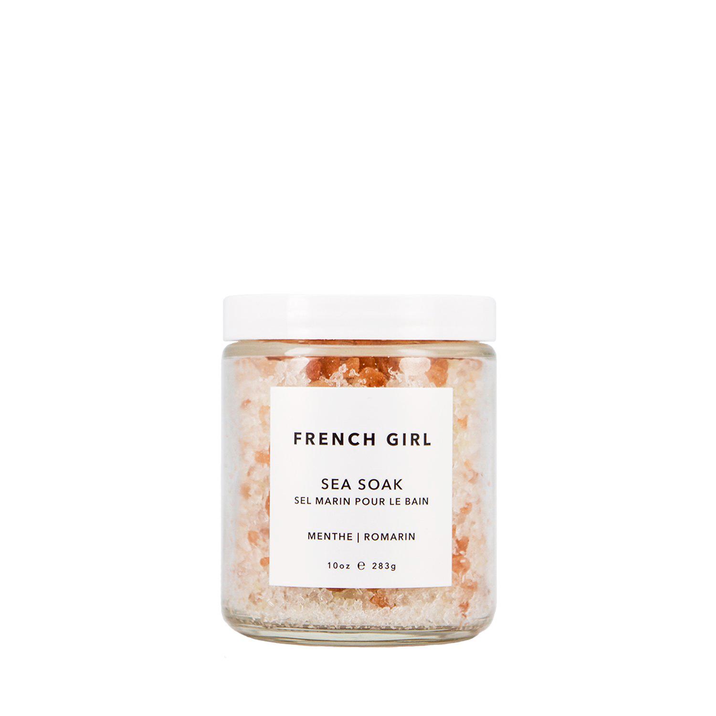 french girl sea soak