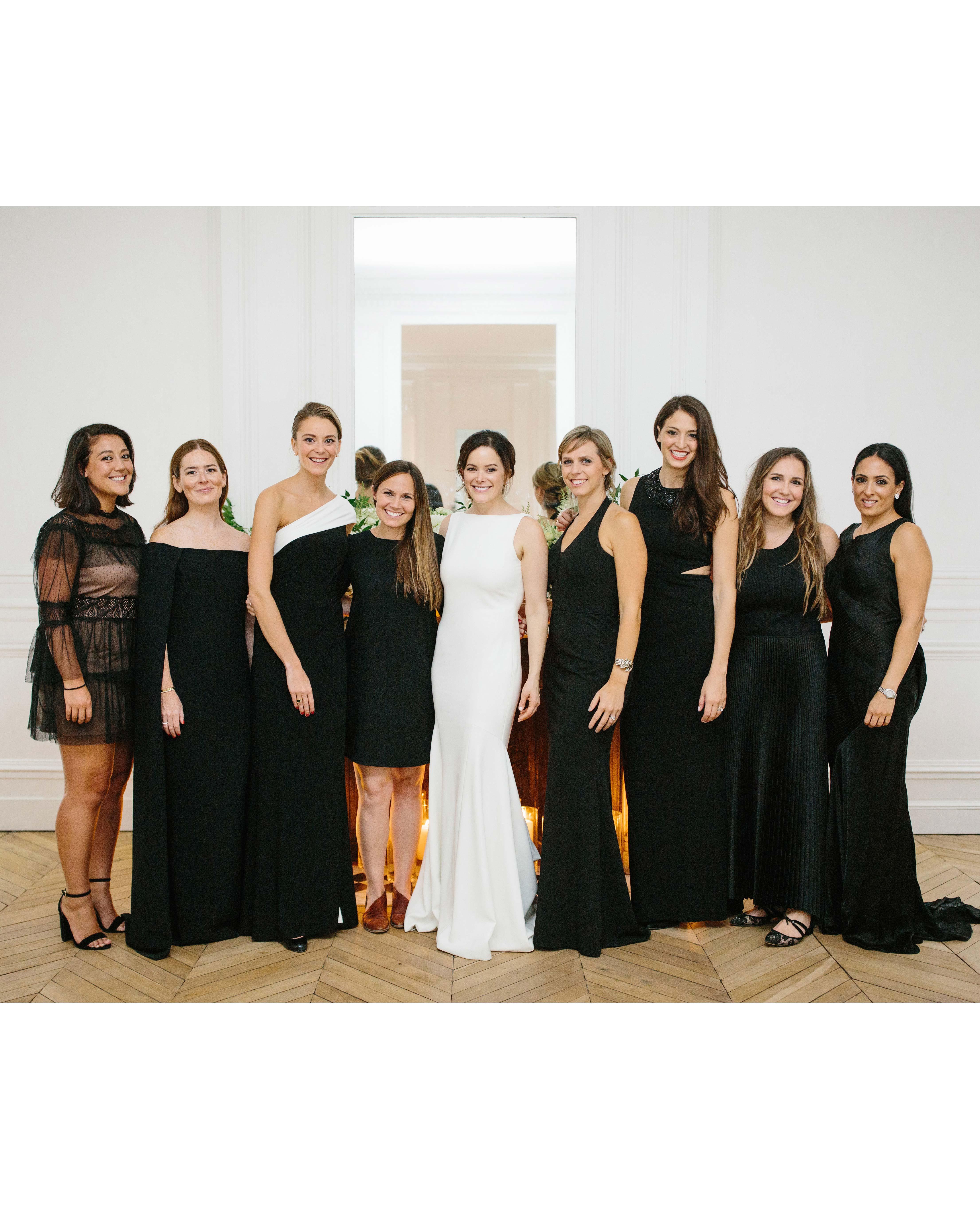 bride with ladies