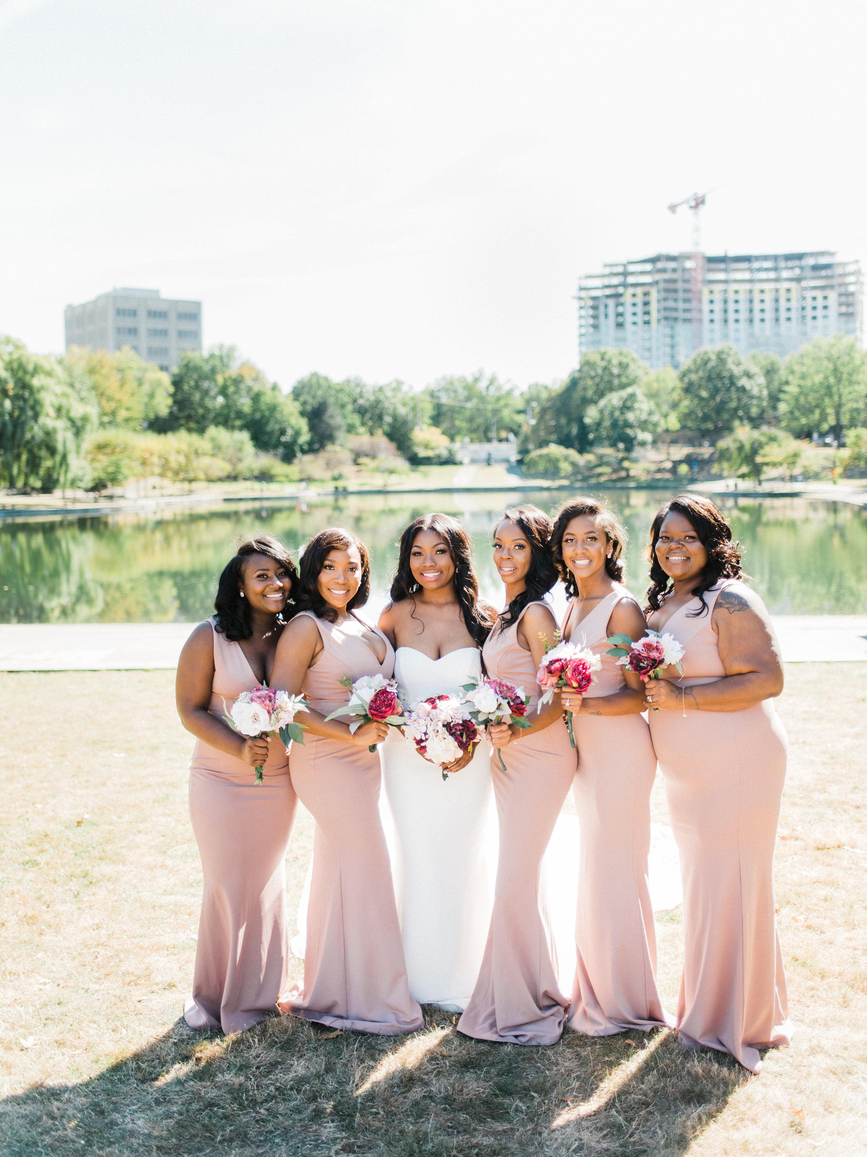 shanice & stephen wedding bridesmaids