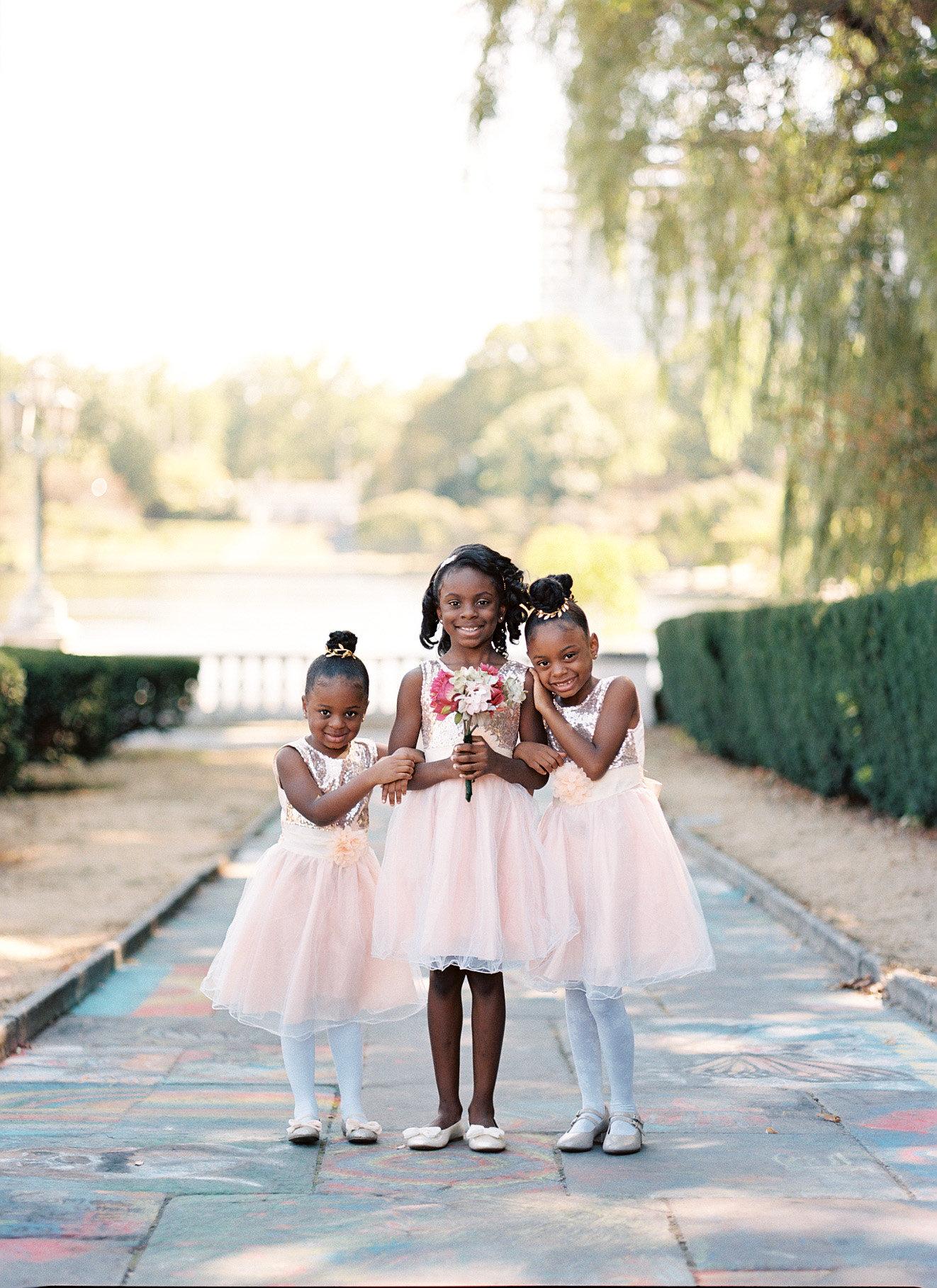 shanice & stephen wedding flower girls